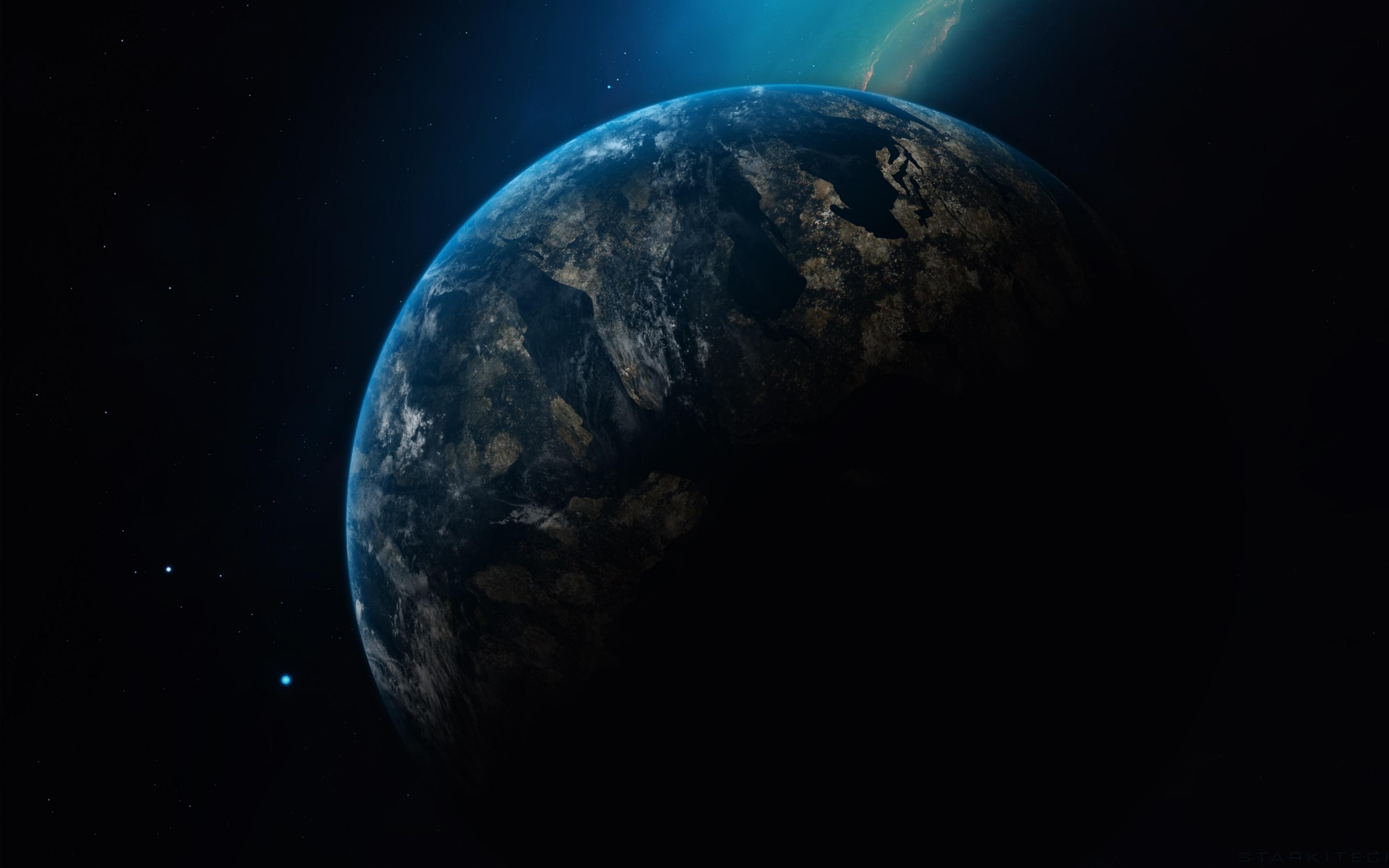 3840x2400 Planet Earth in Dark Universe UHD 4K 3840x2400 ...