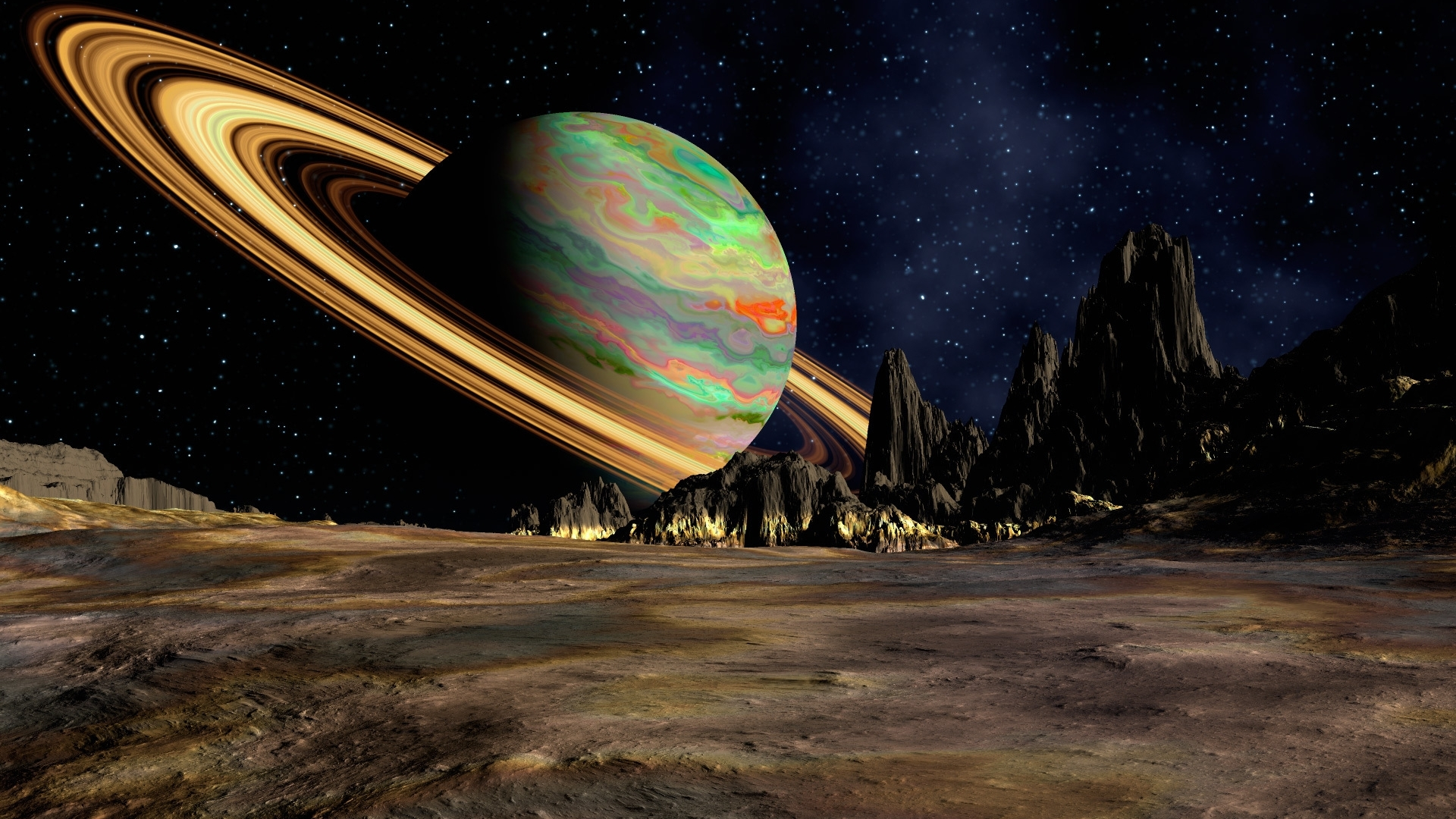 1920x1080 Planet Saturn Space 1080p Laptop Full Hd