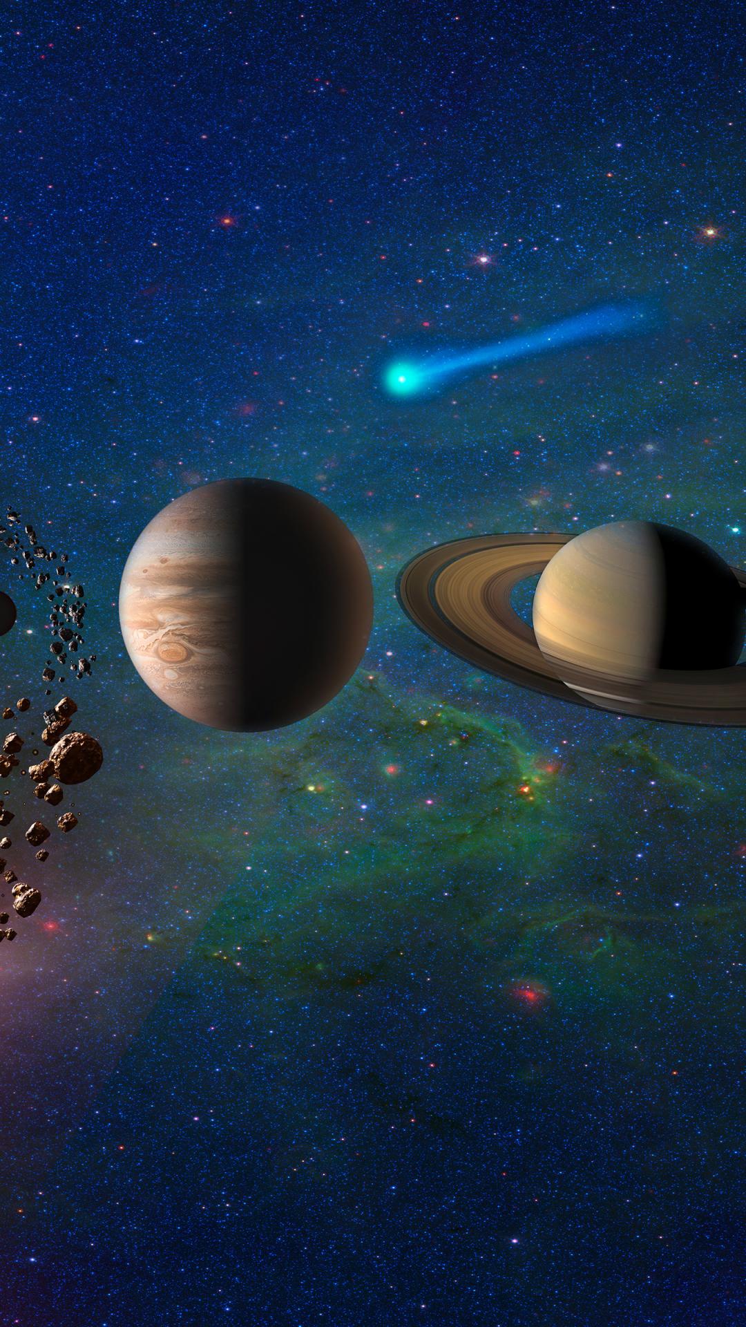 Planets In Solar System Galaxy, HD 4K Wallpaper