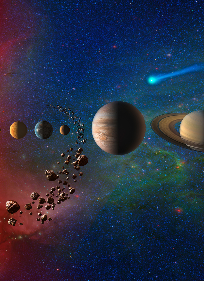 planets in solar system galaxy hd 4k wallpaper