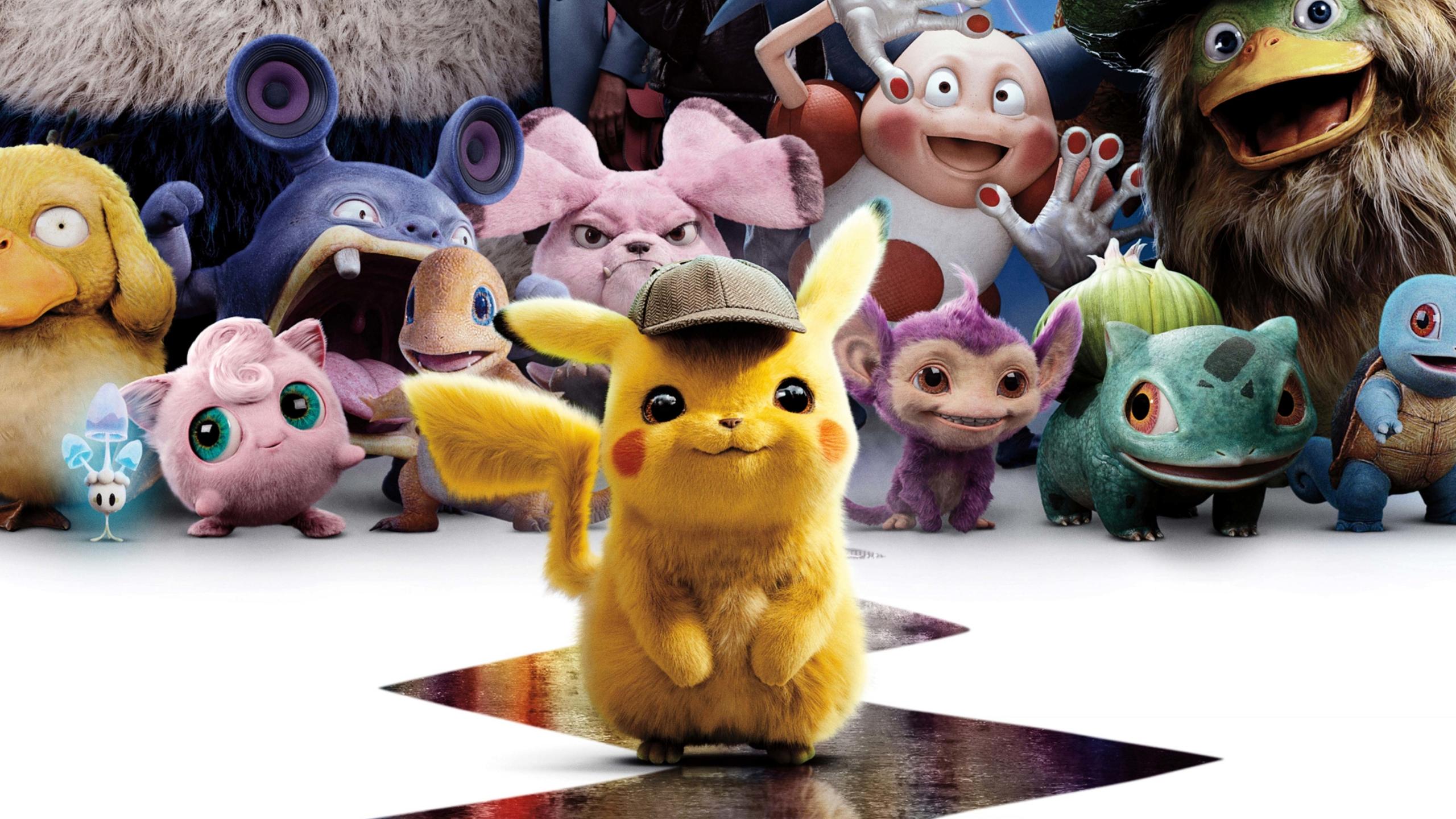 2560x1440 Pokemon Detective Pikachu Characters And Pokemon 1440p