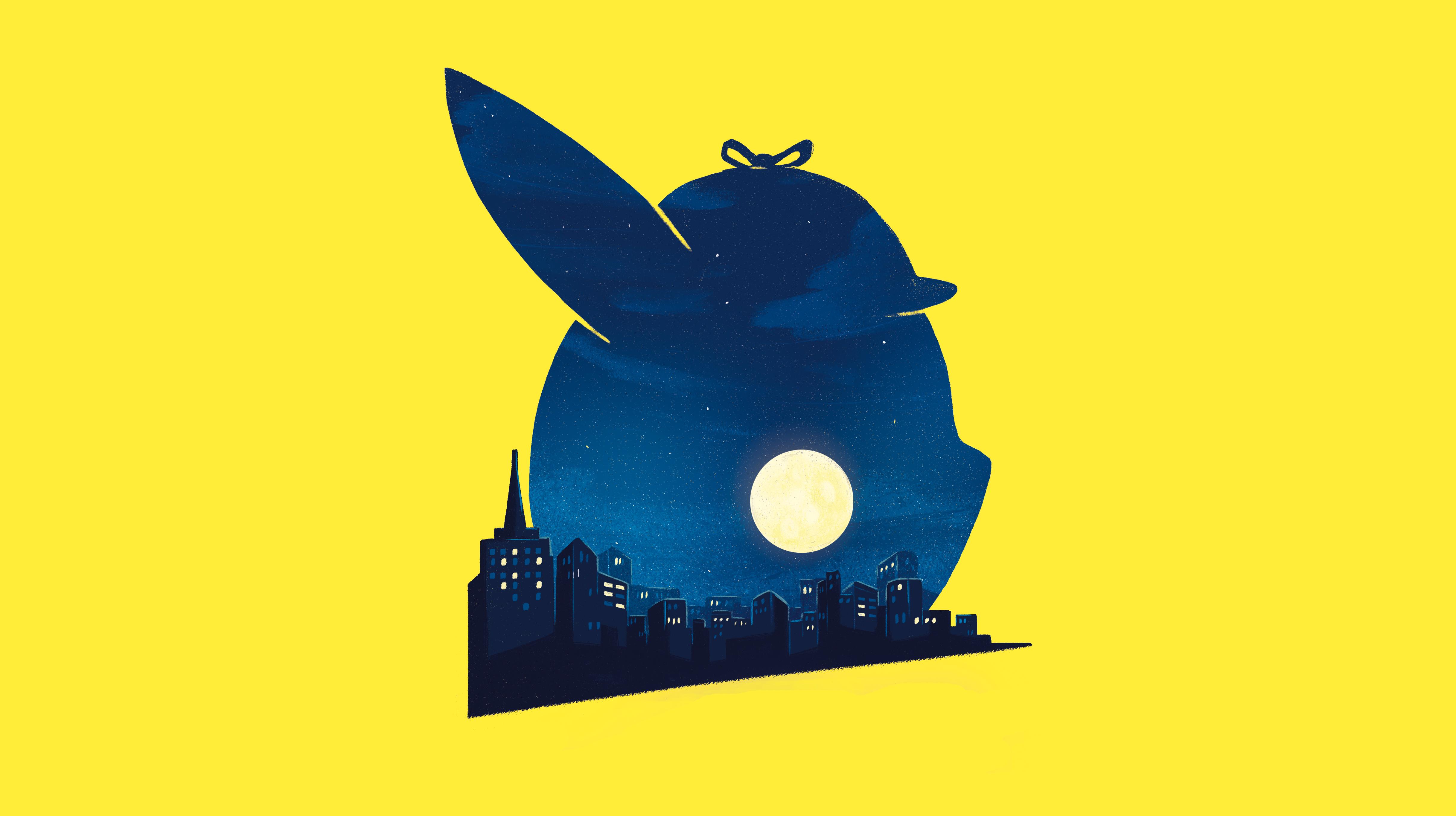 1366x768 Pokemon Detective Pikachu Movie Minimalist Poster