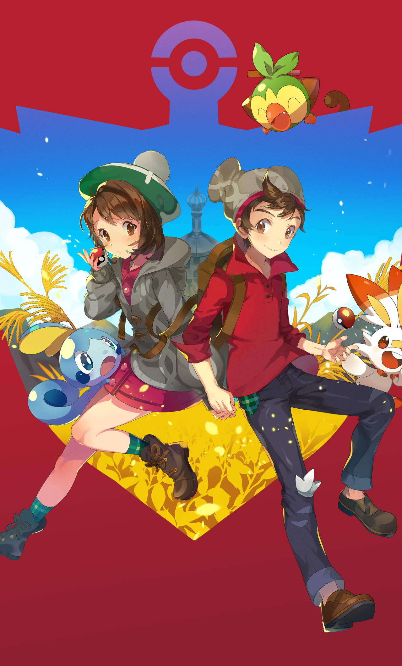1280x2120 Pokemon Sword and Shield Characters iPhone 6 ...