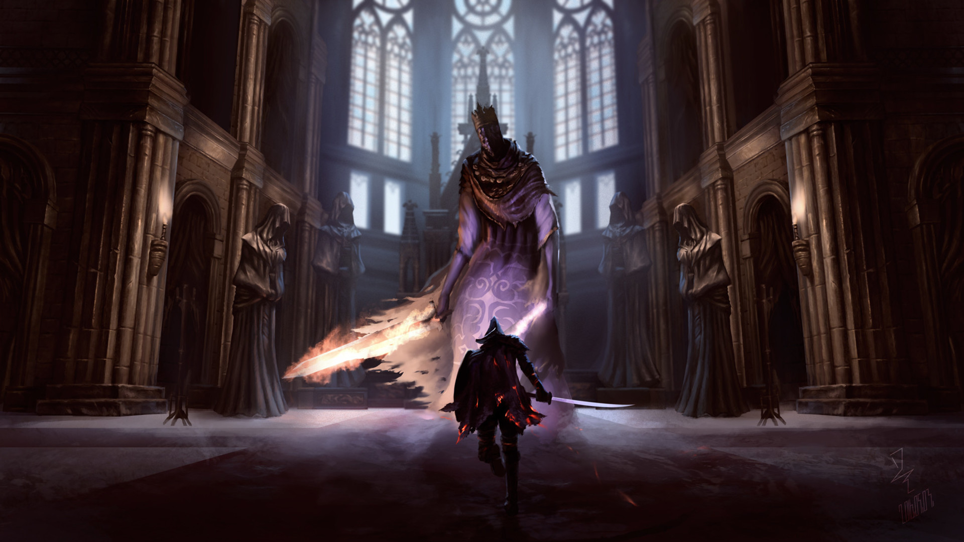 Pontiff Sulyvahn Dark Souls 3 Wallpaper Hd Games 4k Wallpapers