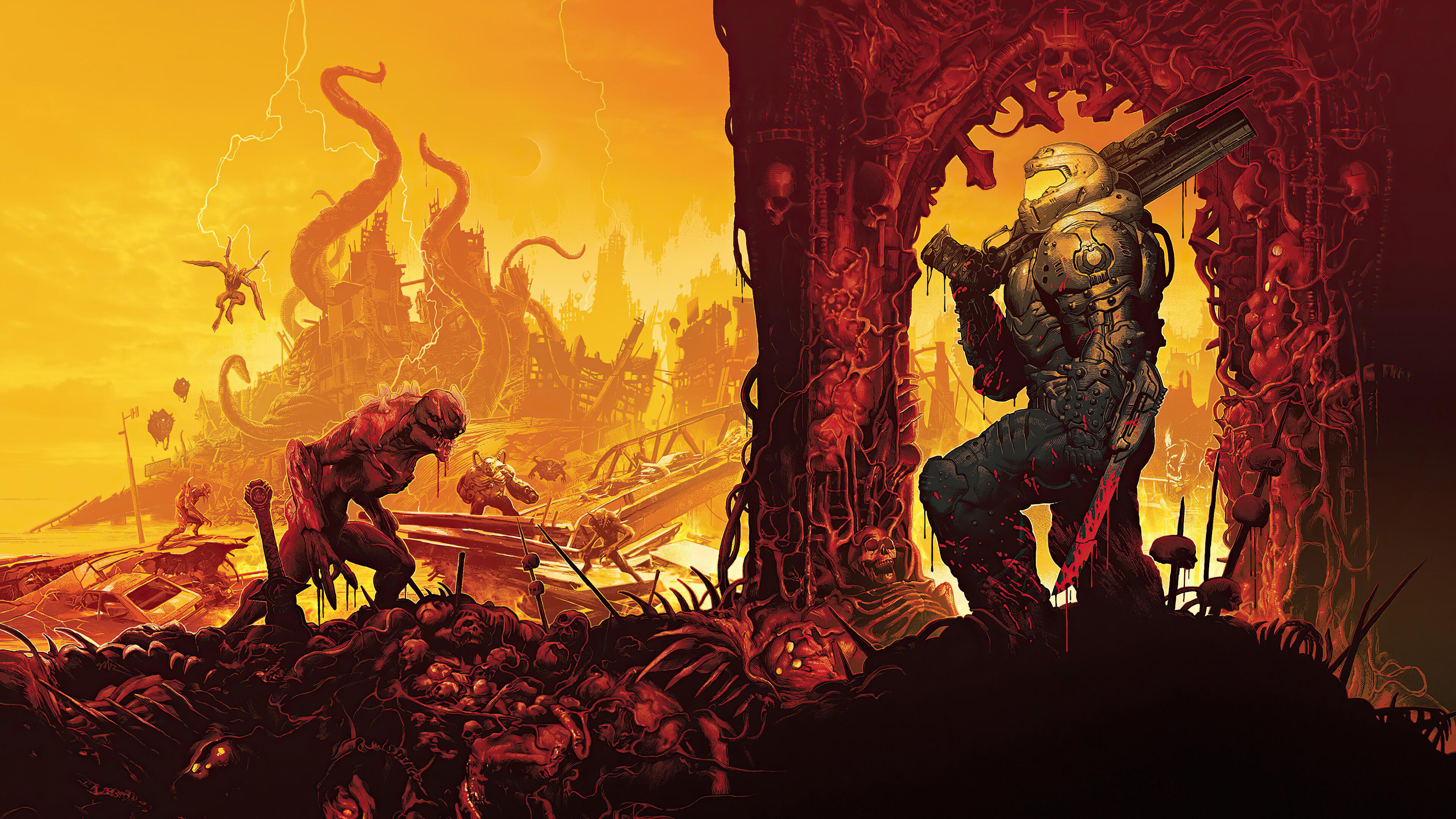 Poster DOOM Eternal 4K Wallpaper, HD Games 4K Wallpapers ...