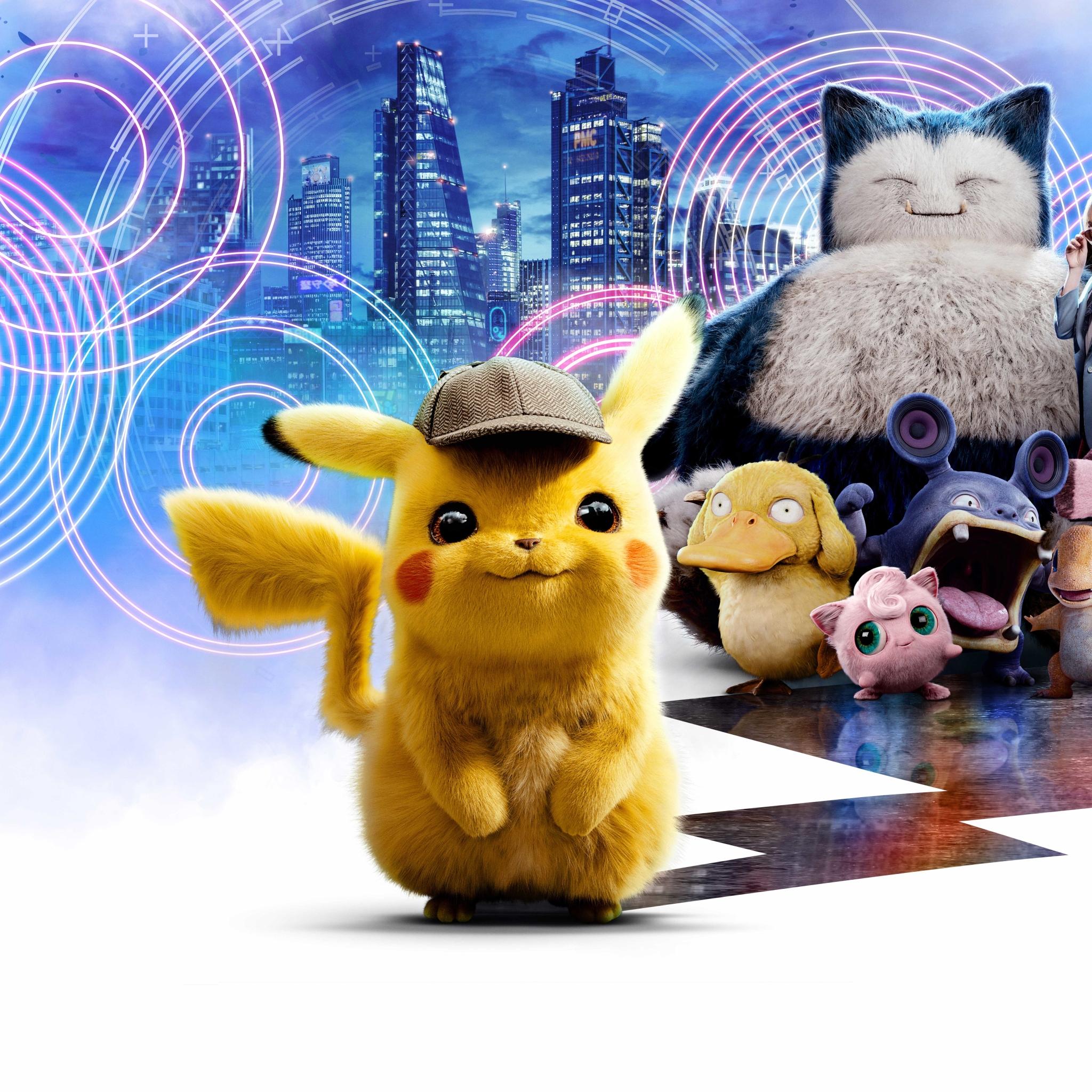 2048x2048 Poster Of Pokemon Detective Pikachu Ipad Air ...