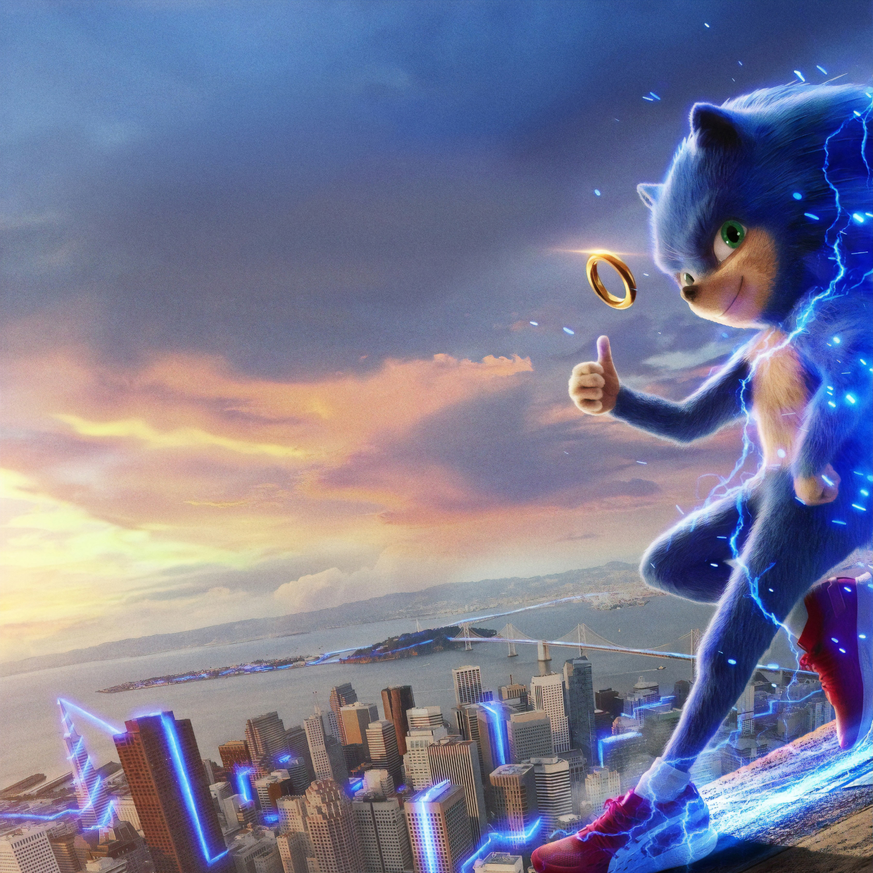 2932x2932 Poster Of Sonic The Hedgehog Ipad Pro Retina Display Wallpaper Hd Movies 4k Wallpapers Images Photos And Background