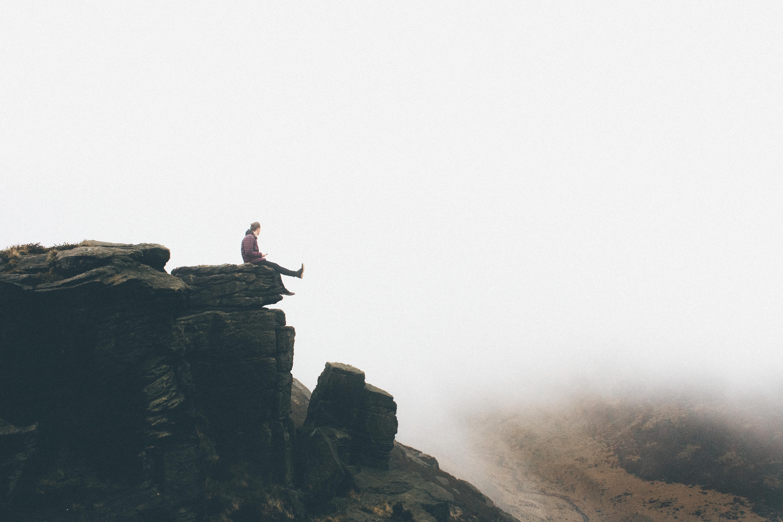 Precipice Man Freedom HD 8K Wallpaper