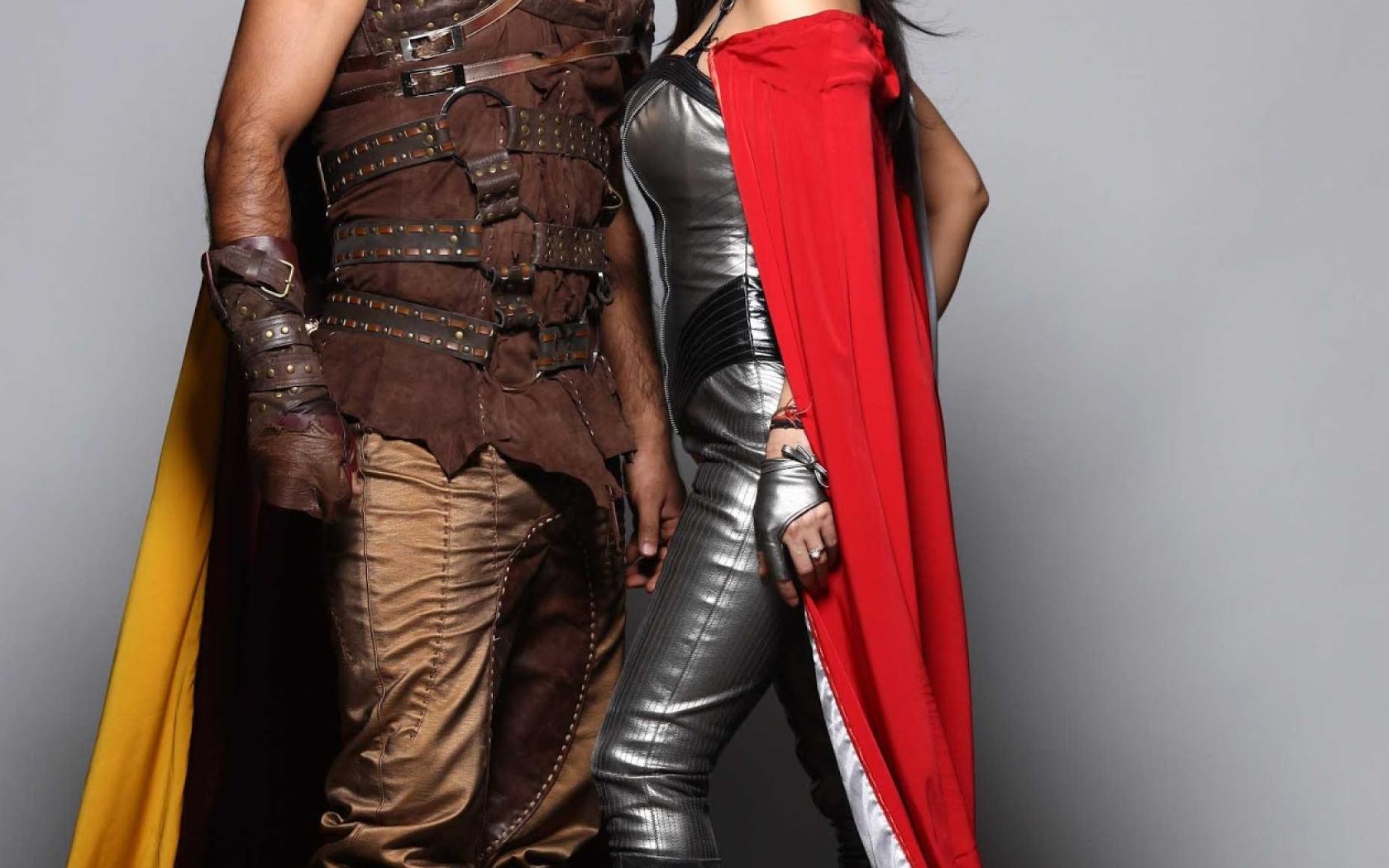 Preity Zinta With Ms Dhoni Photoshoot Hd Wallpaper