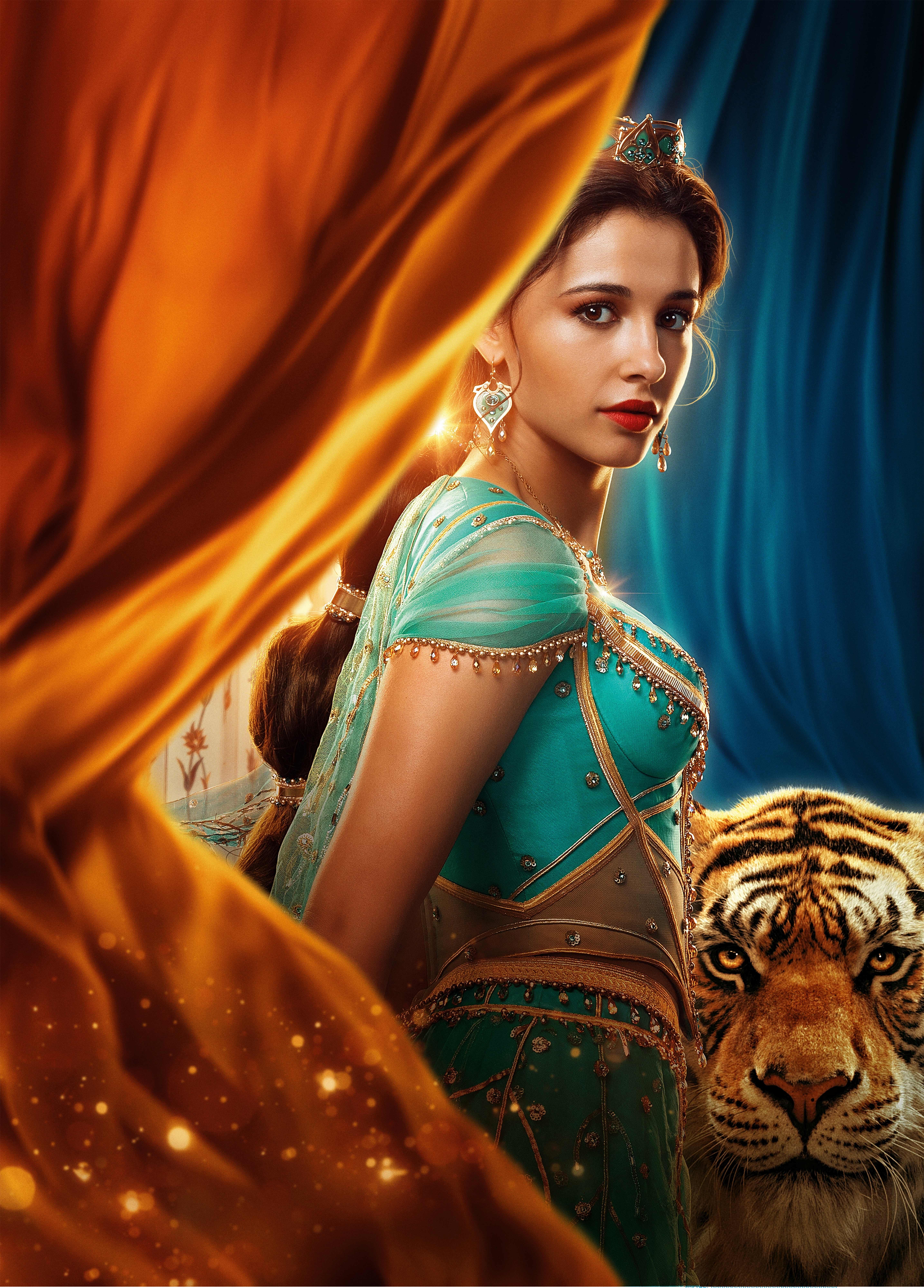 Princess Jasmine In Aladdin Movie 2019 Wallpaper Hd Movies