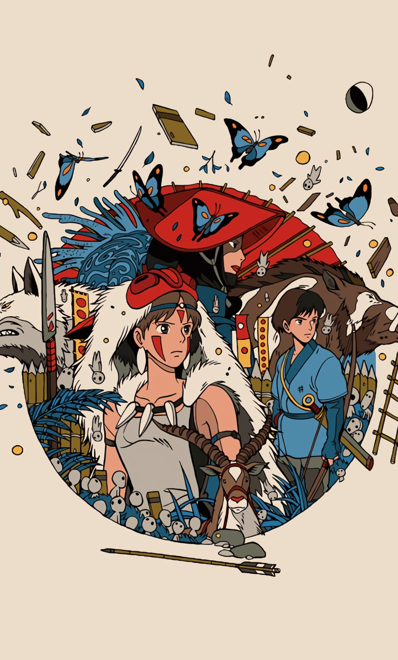 1280x2120 Princess Mononoke Iphone 6 Plus Wallpaper Hd Anime 4k Wallpapers Images Photos And Background