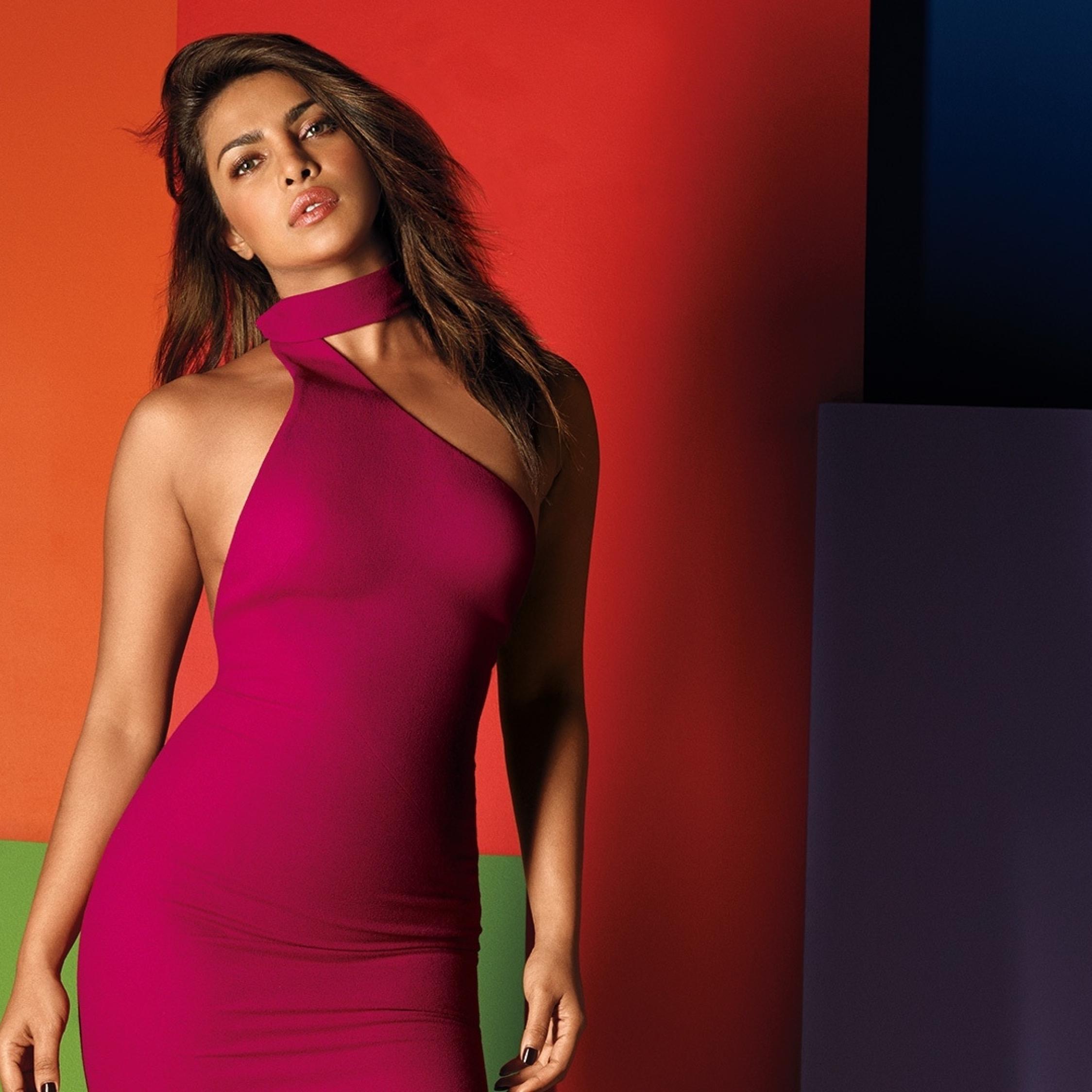 Priyanka Chopra Hot In Pink, Full Hd Wallpaper-9673