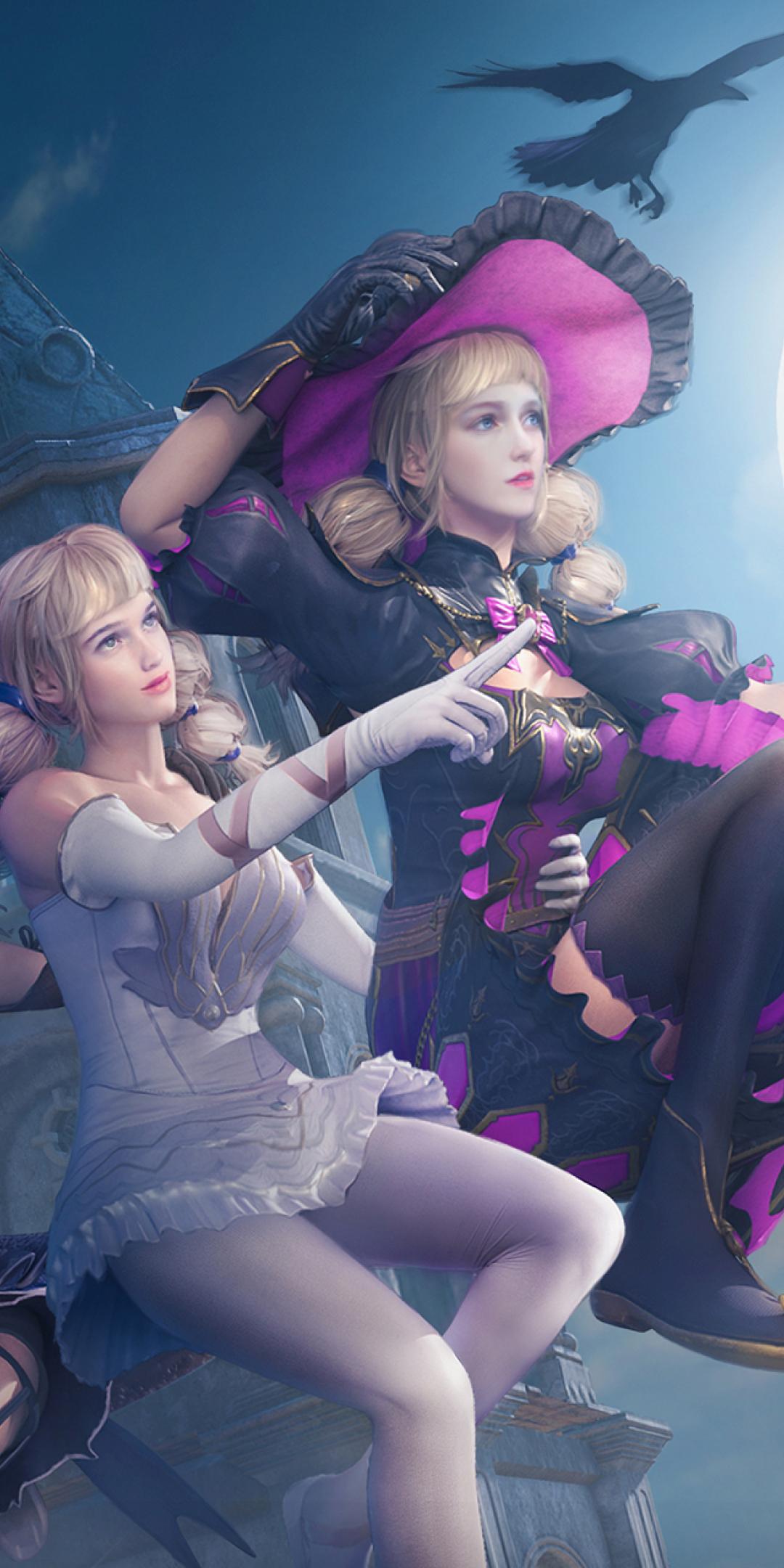 PUBG Halloween Fairy, Enchanter and Enchantress Wallpaper in 1080x2160 Resolution