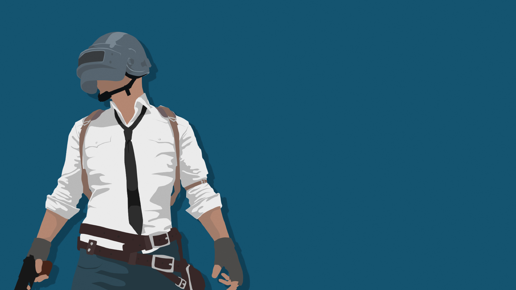 Pubg Minimal Art, Full HD Wallpaper