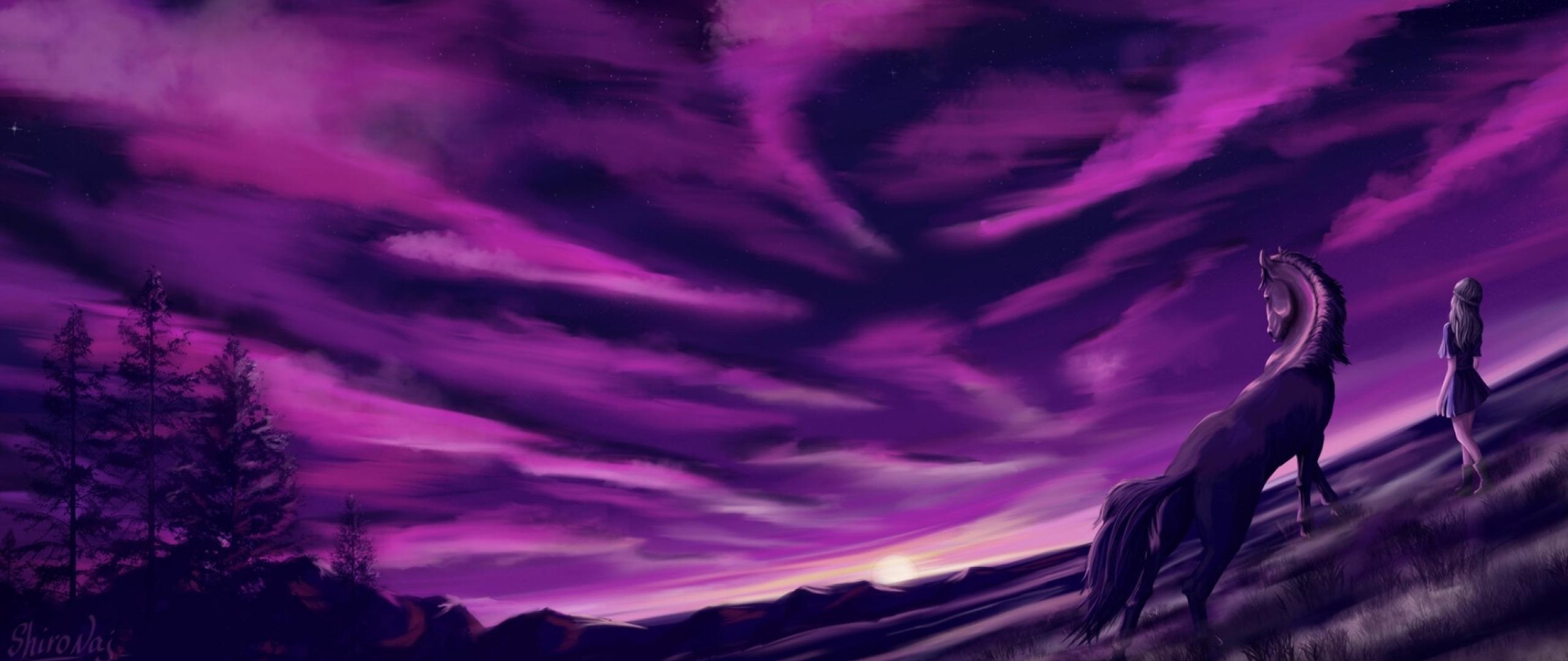 2560x1080 Purple Cool Sunrise 2560x1080 Resolution ...