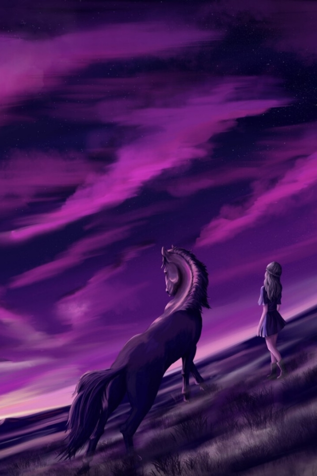 640x960 Purple Cool Sunrise iPhone 4, iPhone 4S Wallpaper ...