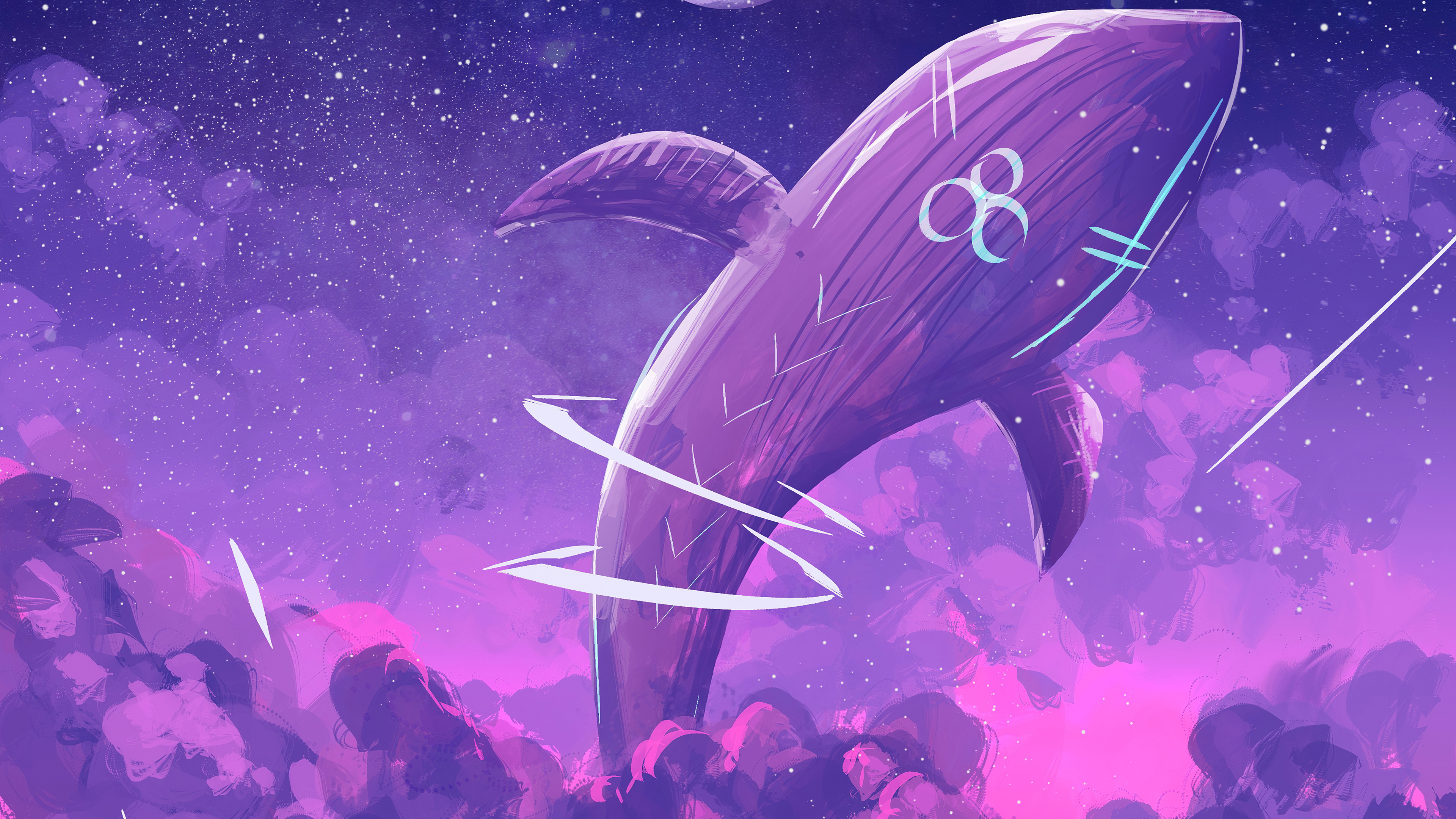 Purple Whale Away 4k Hd Vaporwave Wallpaper Hd Artist 4k Wallpapers Images Photos And Background Wallpapers Den