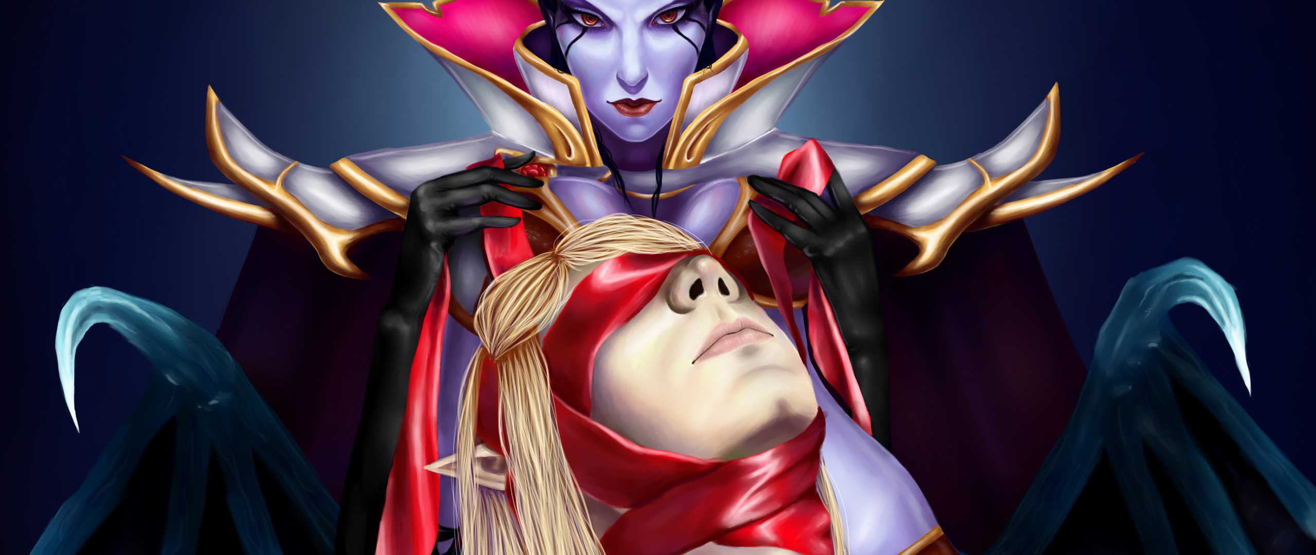 2560x1080 Queen Of Pain Invoker Dota 2 2560x1080 Resolution