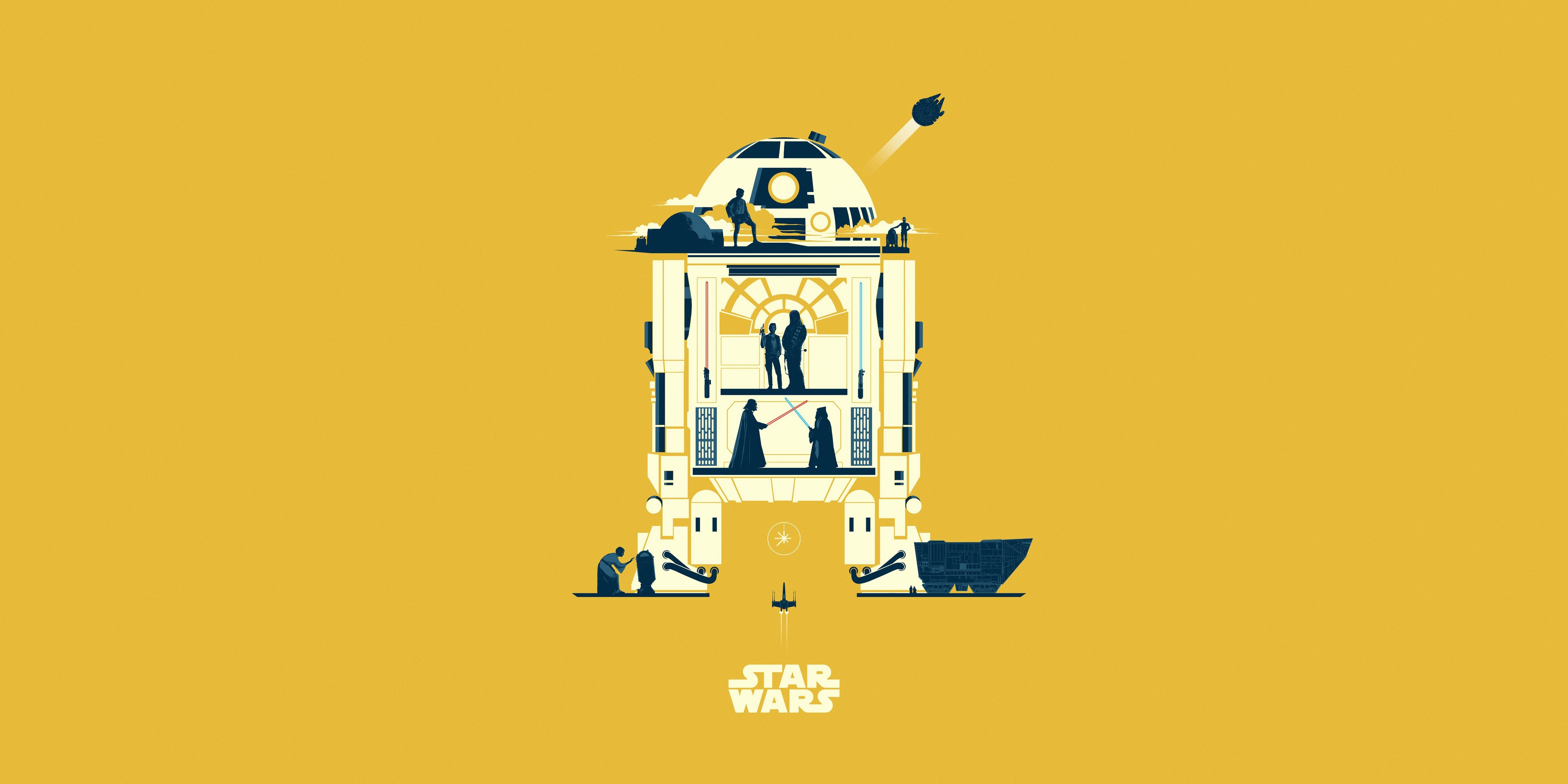 R2 D2 Star Wars Minimalist Wallpaper Hd Minimalist 4k Wallpapers Images Photos And Background