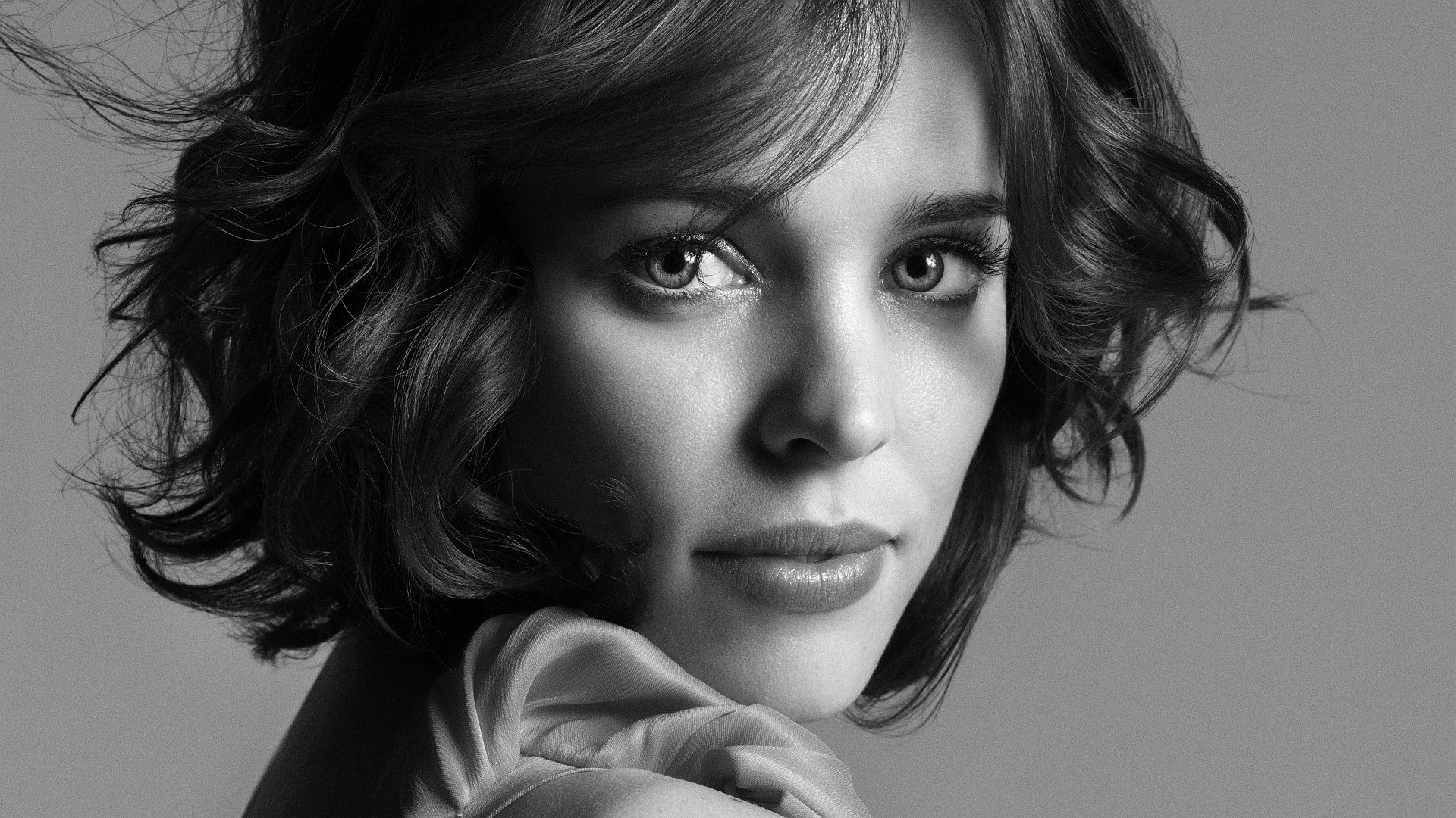 Wallpaper Face Women Model Black Background Looking: Rachel Mcadams, Face, Actress, Full HD Wallpaper