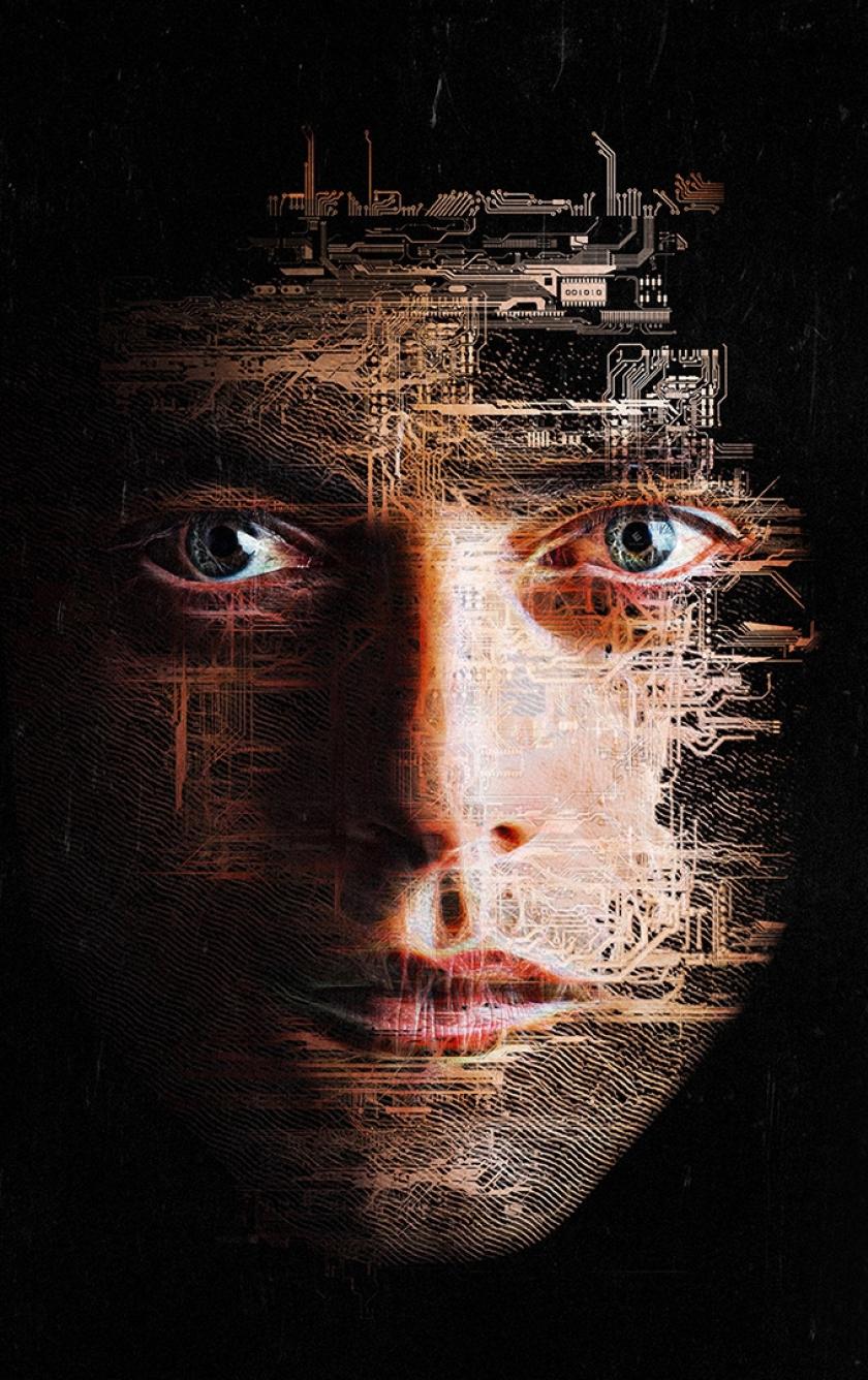 Rami Malek Of Mr. Robot Face Art, Full HD Wallpaper
