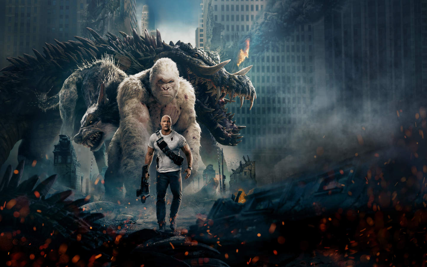 Hd Wallpapers For Samsung Galaxy S6 Edge Wallpapers Part 2: Rampage 2018 Official Poster, HD 8K Wallpaper