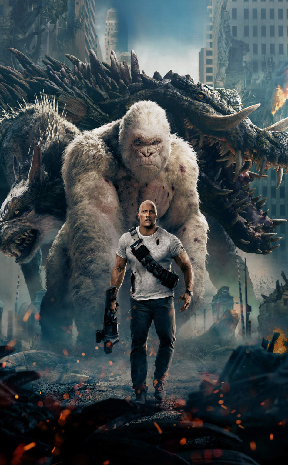 Rampage 2018 Official Poster Hd 8k Wallpaper