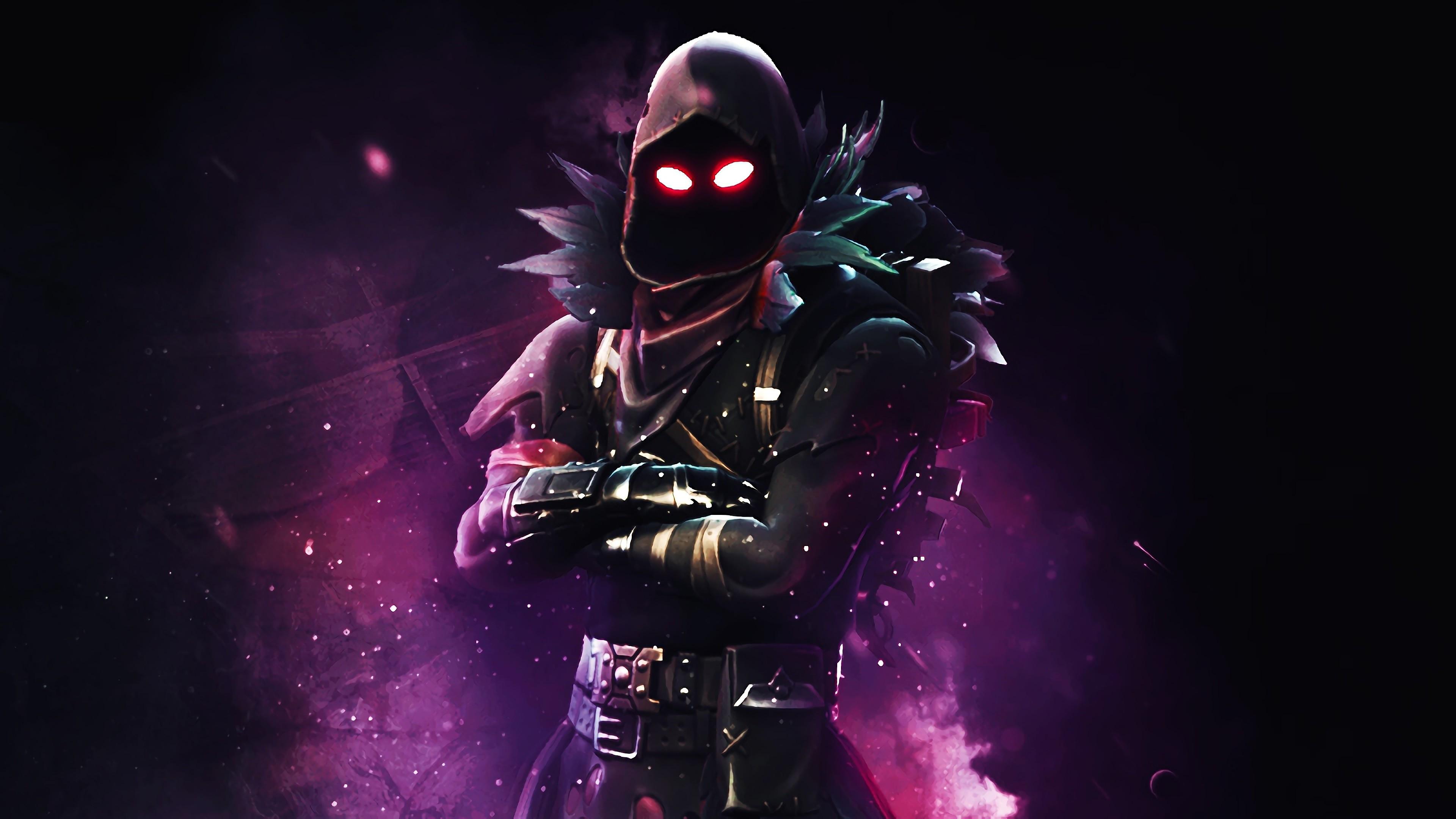 Raven Fortnite Battle Royale 4k Background Hd Games 4k