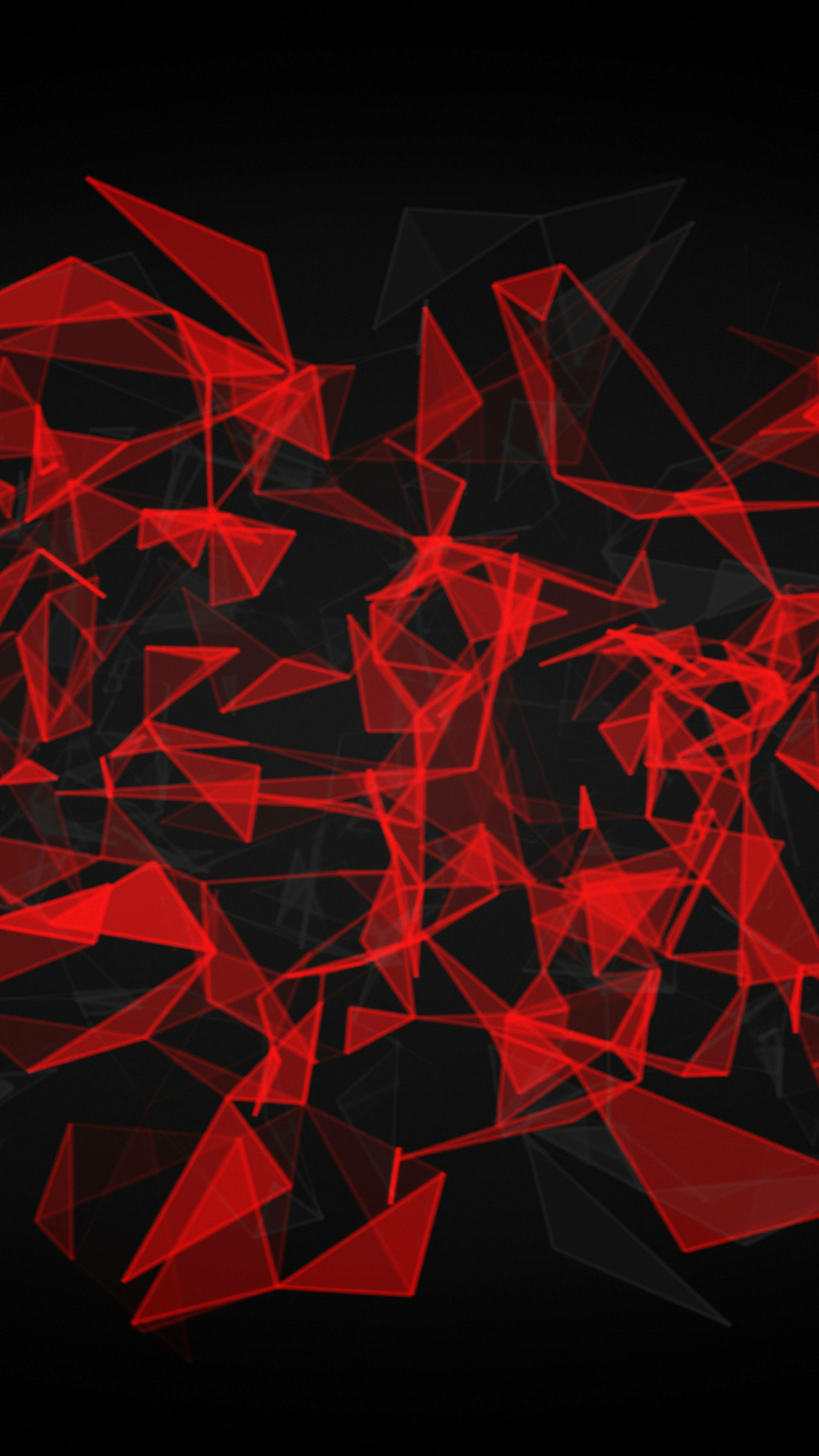 Red And Black Polygon,...