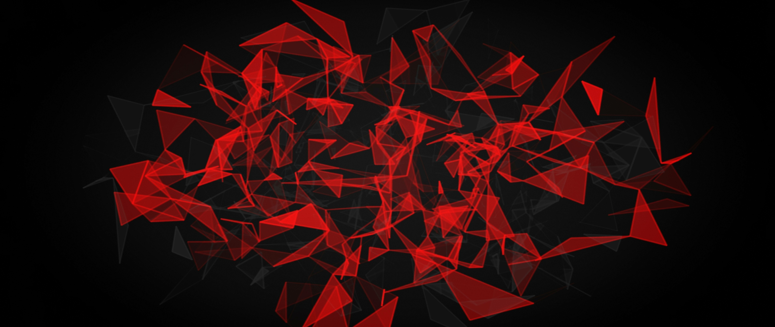 2560x1080 Red And Black Polygon 2560x1080 Resolution ...