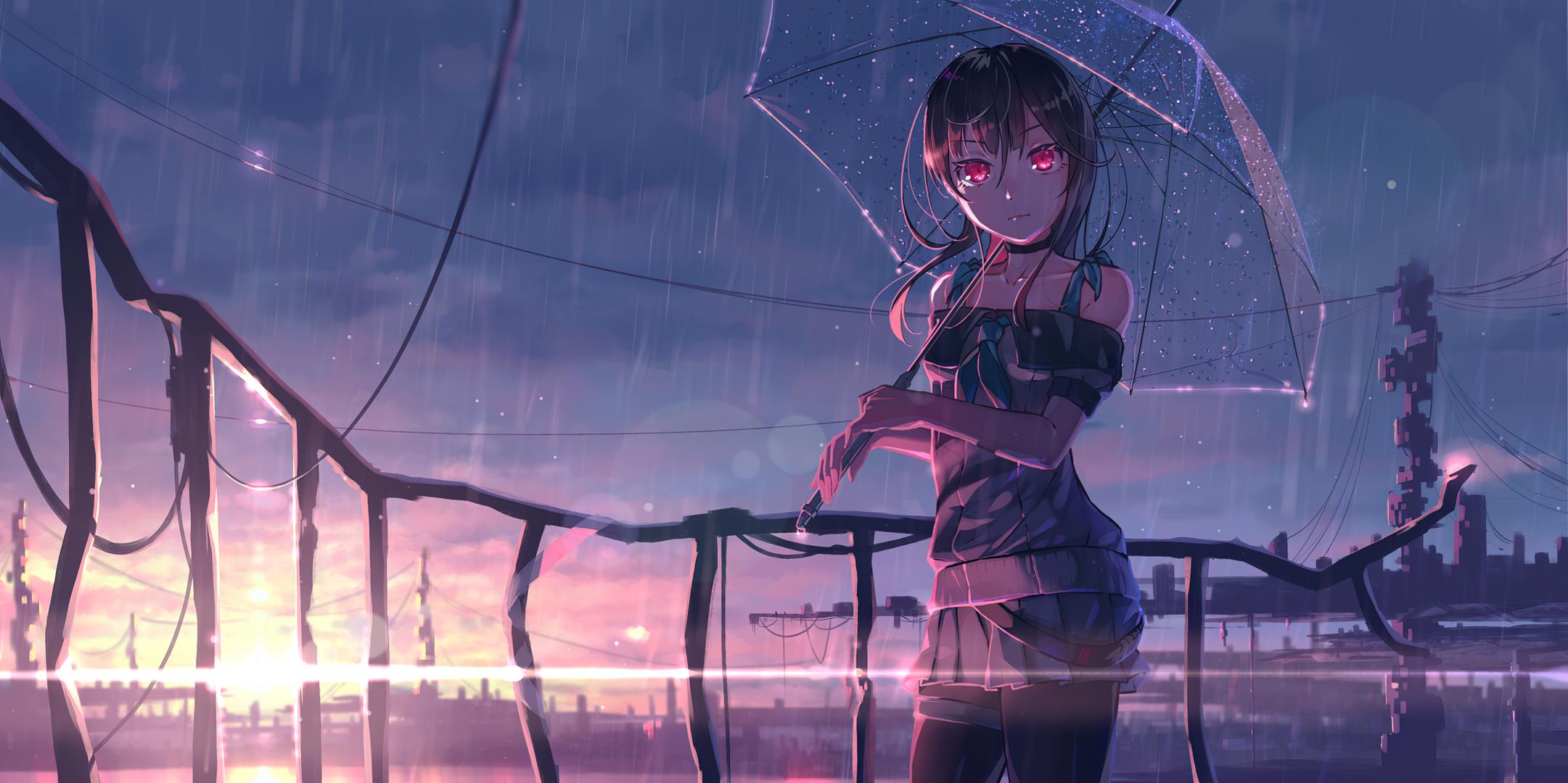 Red Eye Anime Girl Wallpaper, HD Anime 4K Wallpapers ...