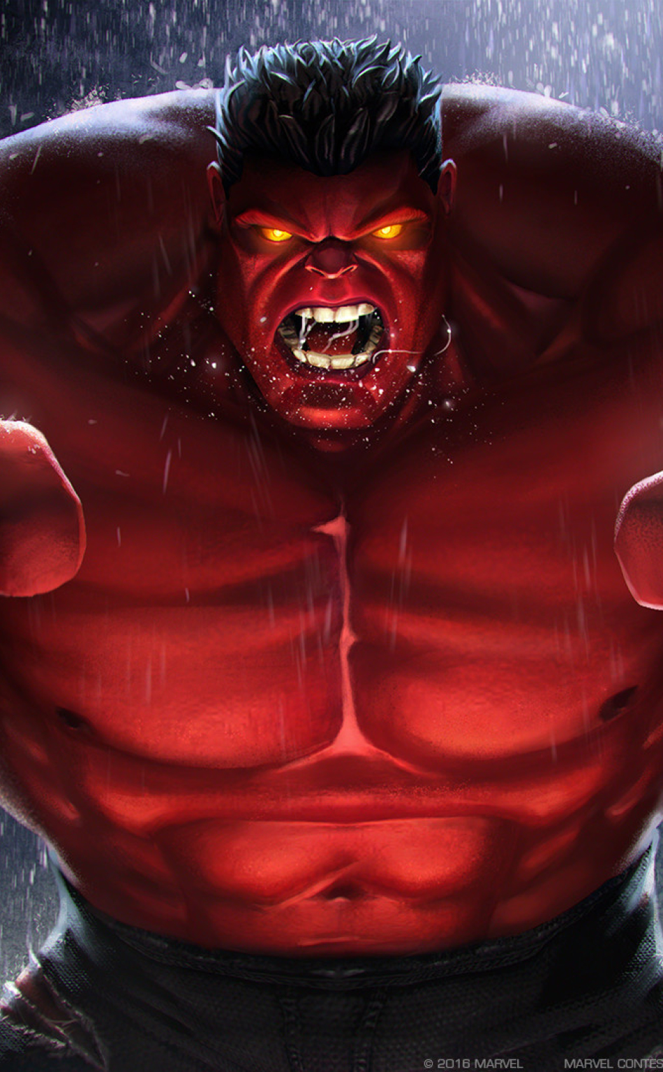 Red Hulk Marvel Contest Of Champions, Full HD Wallpaper