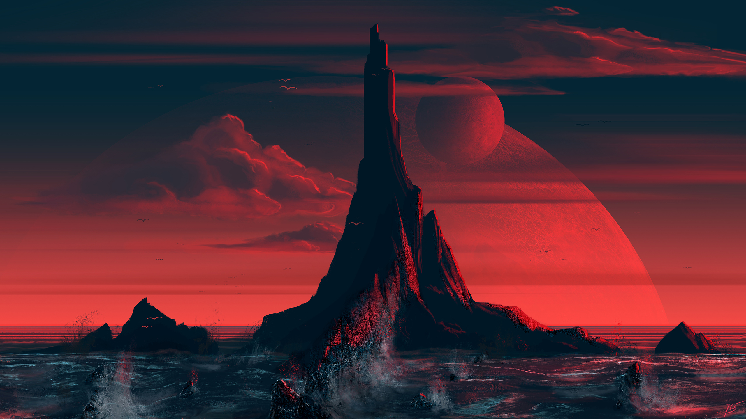 Red Island Wallpaper, HD Artist 4K Wallpapers, Images ...