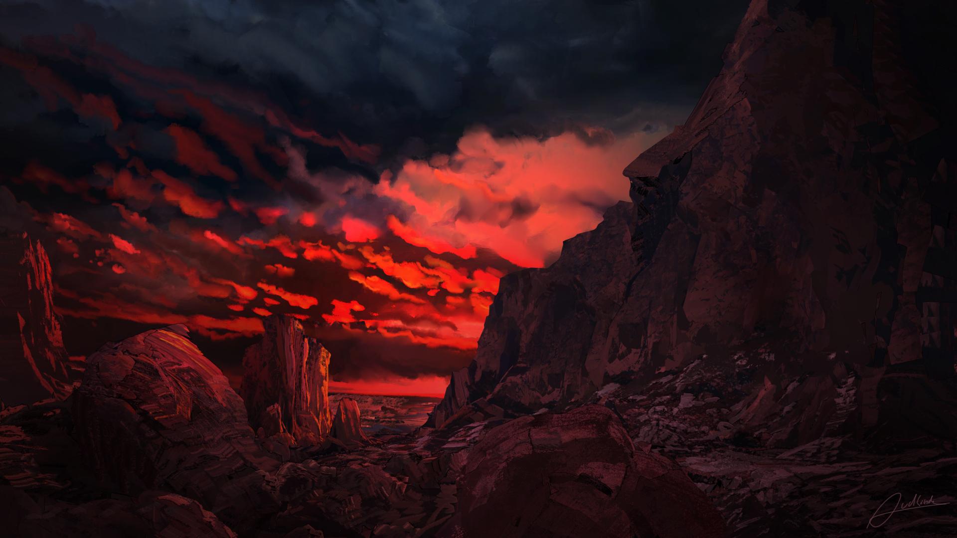 1920x1080 Red Mountains 1080p Laptop Full Hd Wallpaper Hd