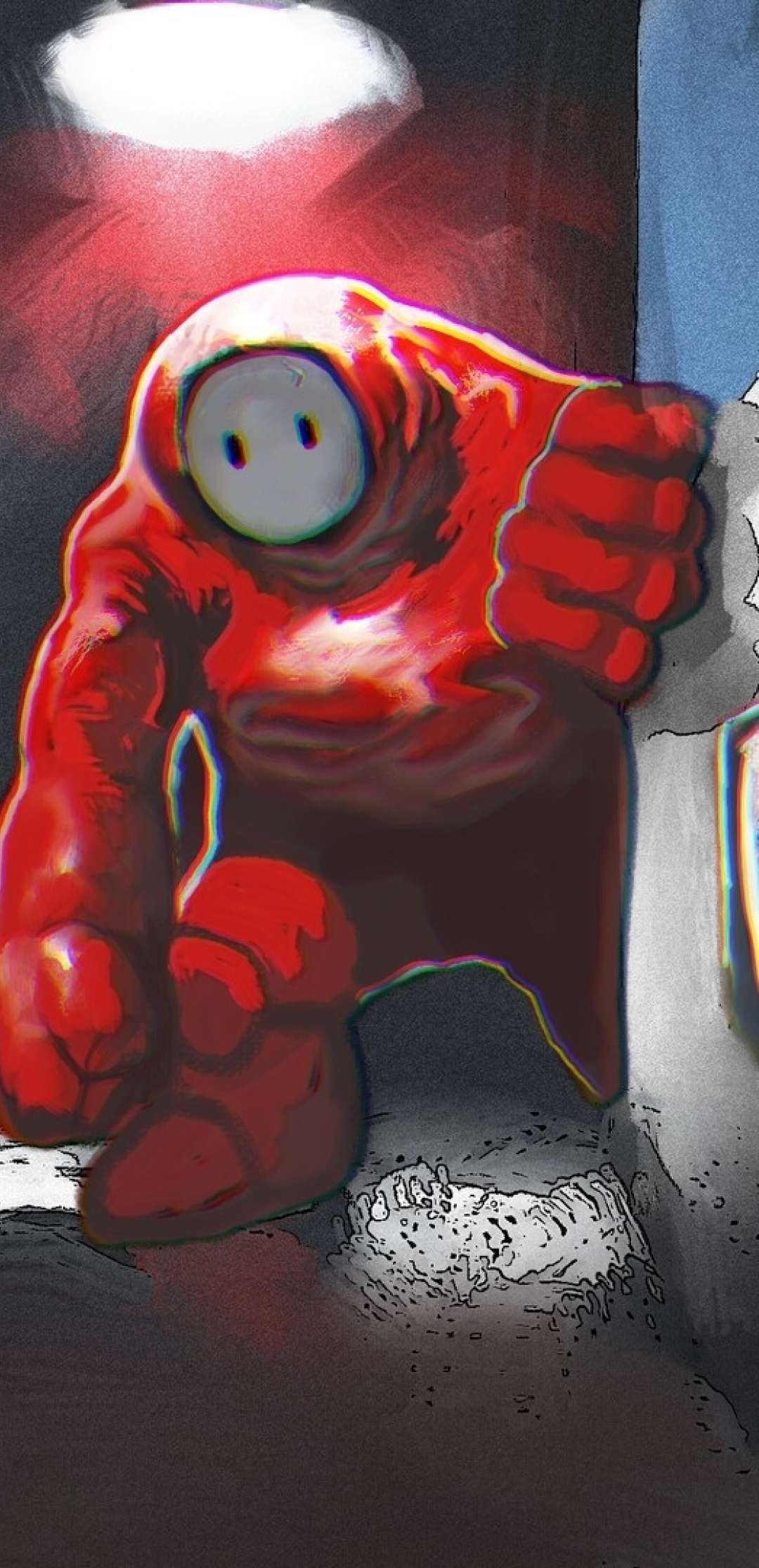 1080x2232 Red vs Blue Crewmate Among Us 1080x2232 ...
