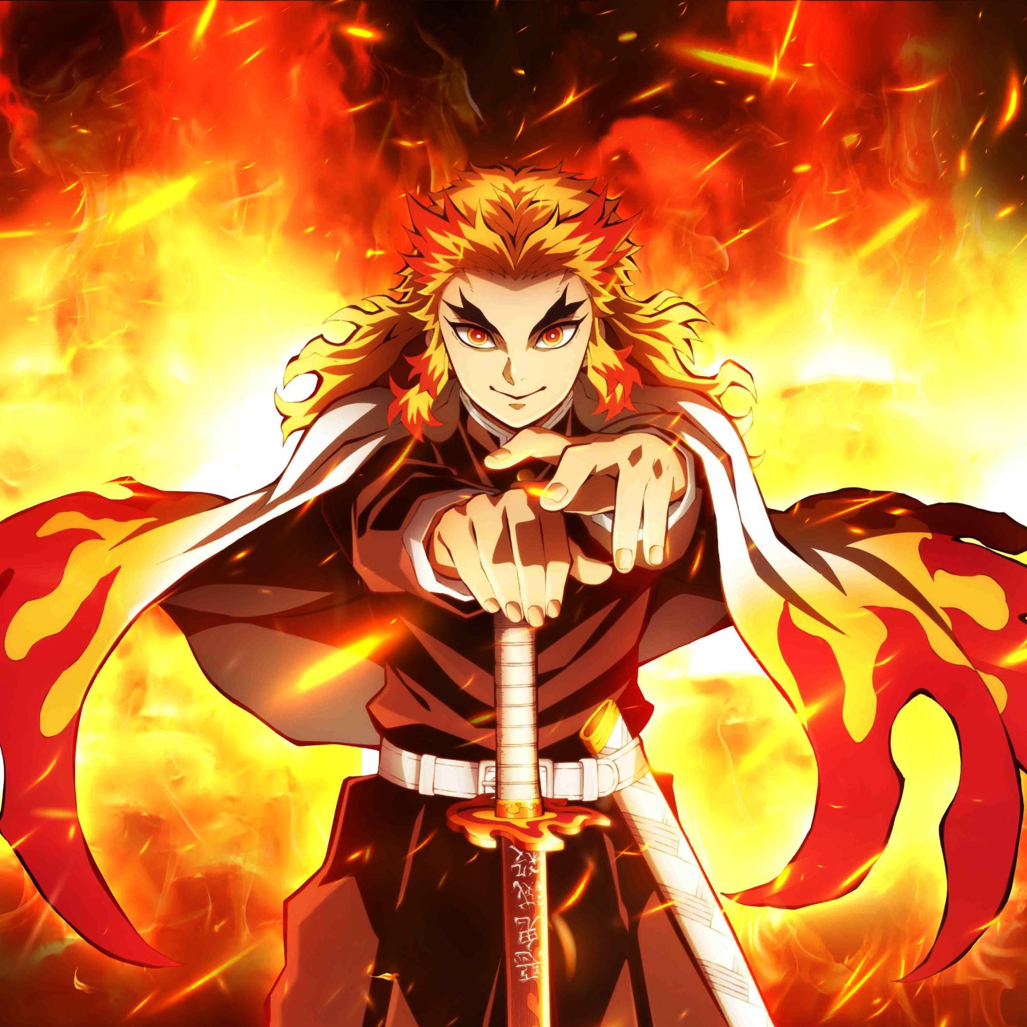 2048x2048 Rengoku Demon Slayer Ipad Air Wallpaper, HD ...