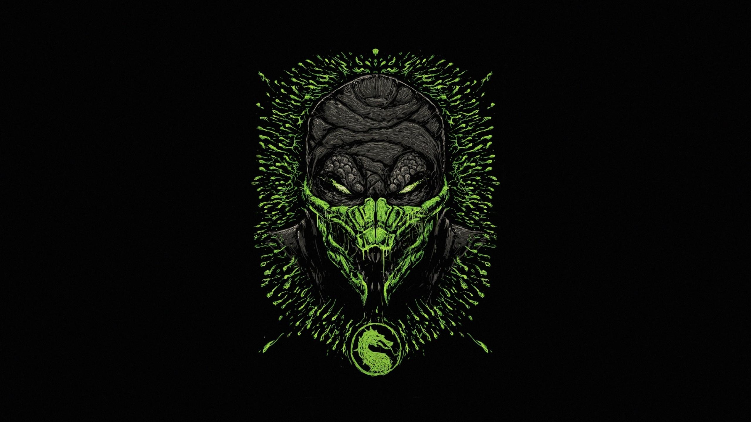 2560x1440 Reptile Mortal Kombat Minimal 1440p Resolution Wallpaper
