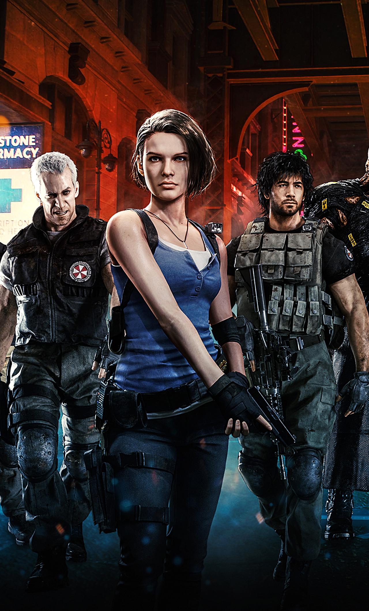 1280x2120 Resident Evil 3 2020 Remake iPhone 6 plus ...