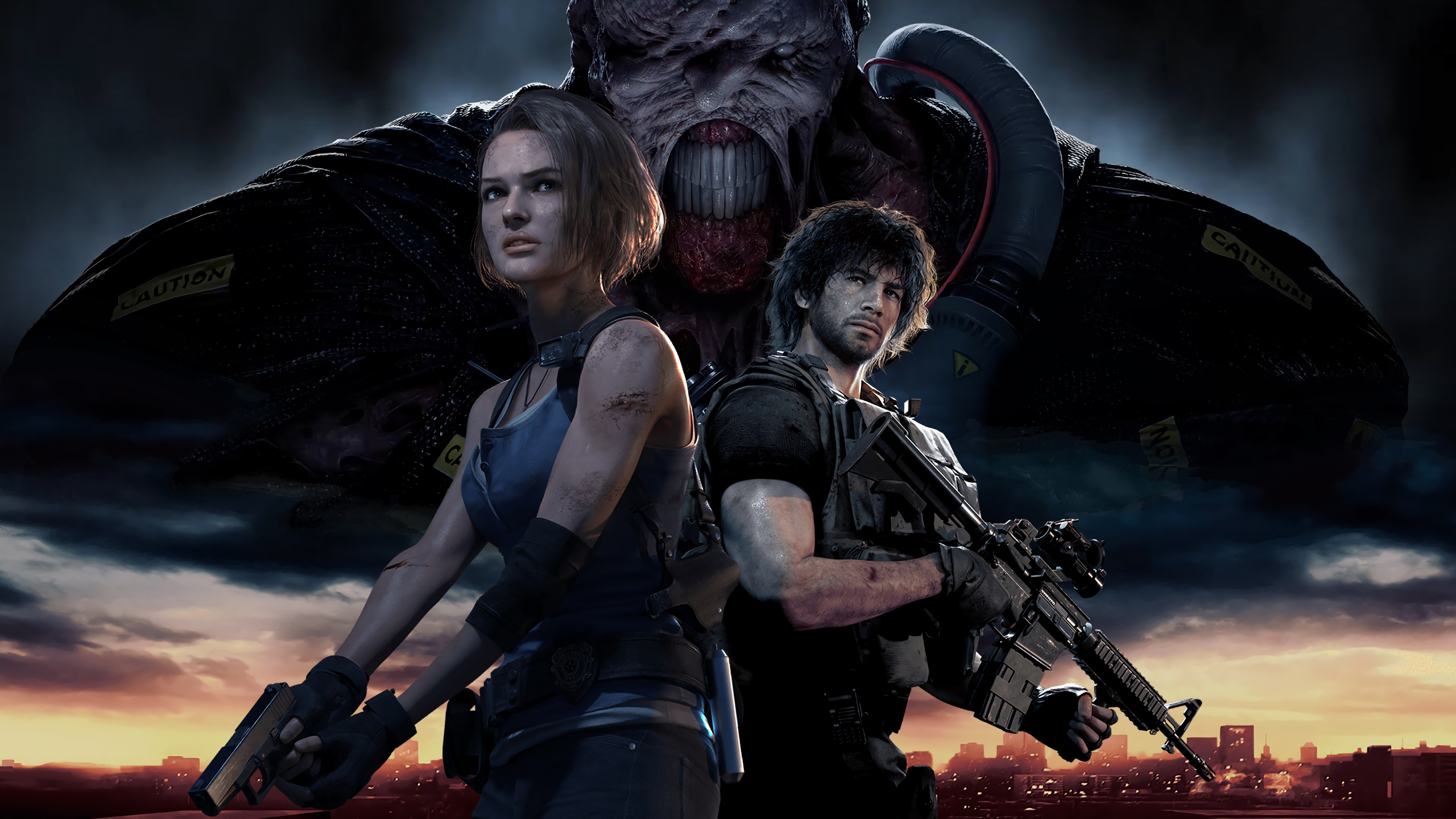 2560x1440 Resident Evil 3 Remake Characters 1440P ...