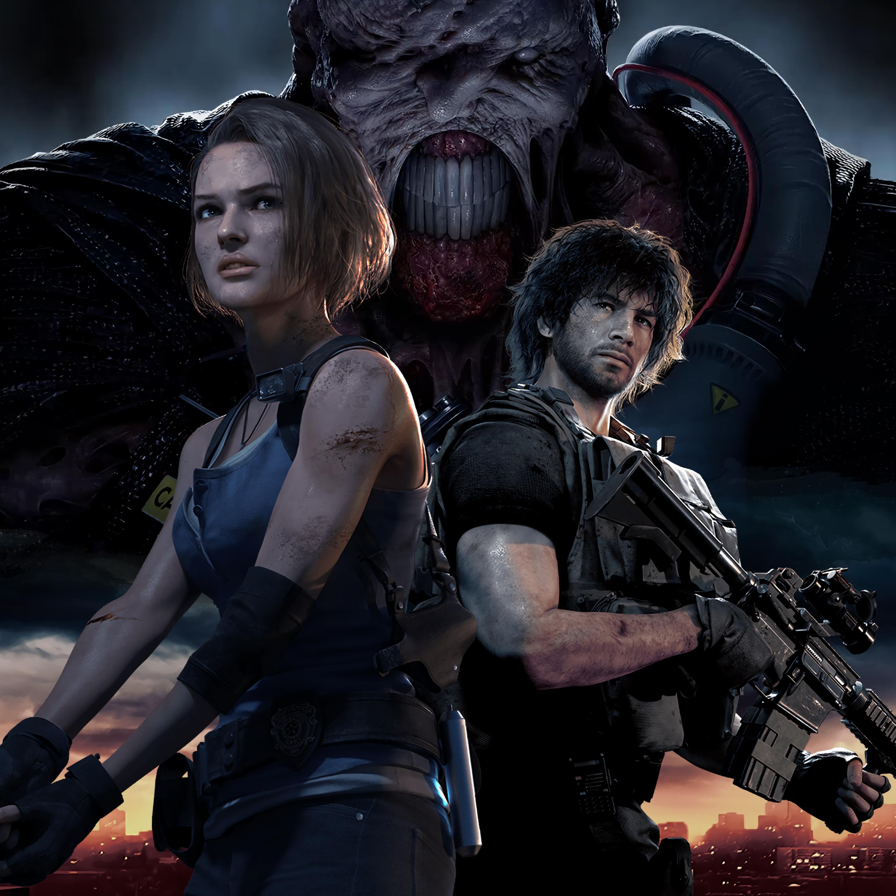2932x2932 Resident Evil 3 Remake Characters Ipad Pro Retina