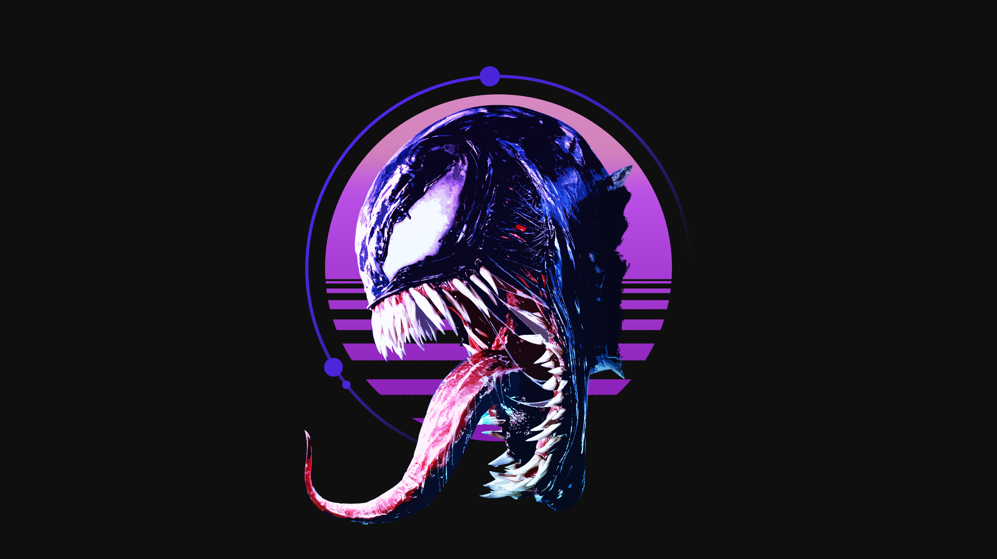 Retro Venom Art Wallpaper Hd Movies 4k Wallpapers Images Photos And Background