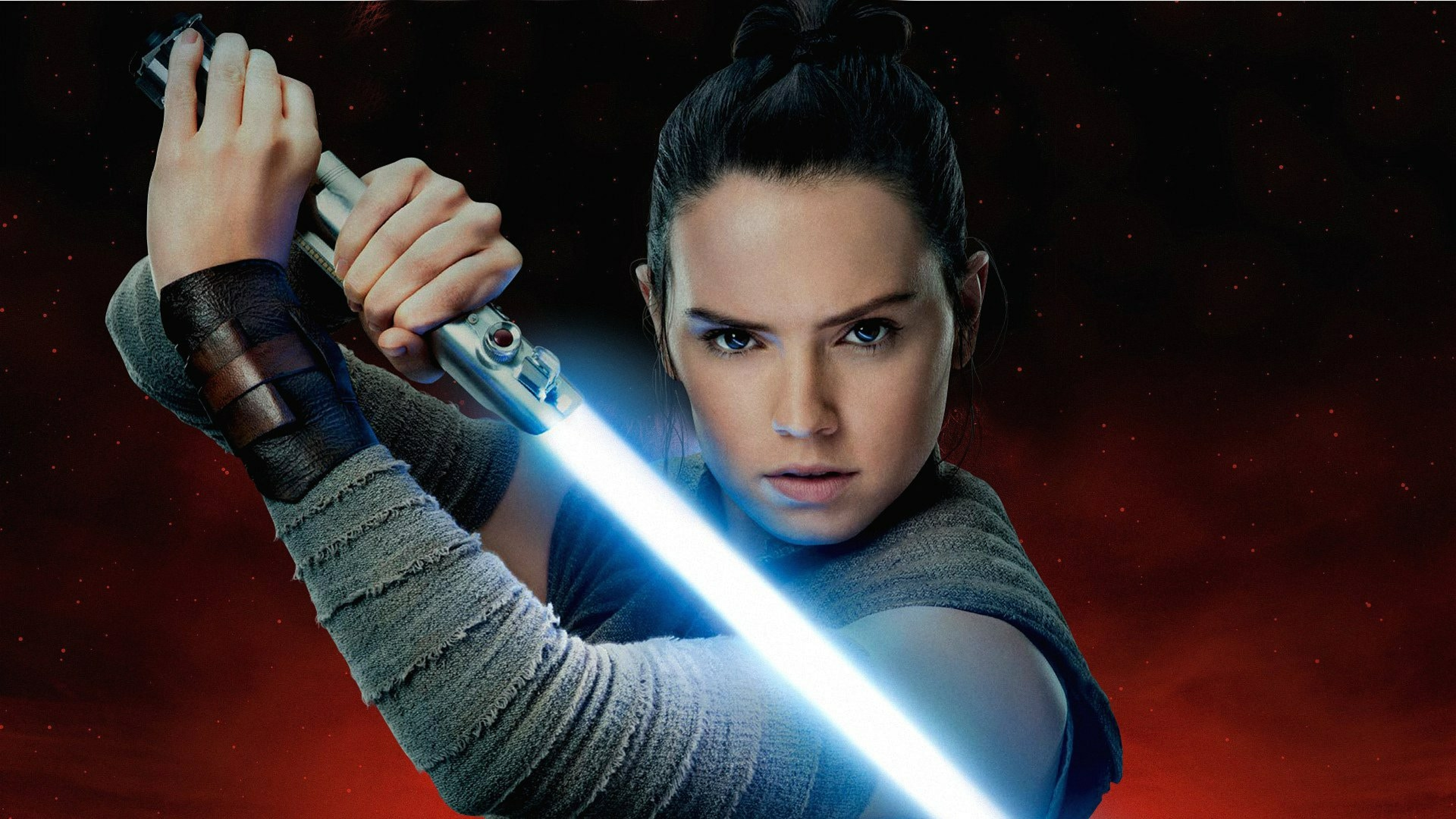 3840x2160 Rey Aka Daisy Ridley In Star Wars The Last Jedi 4k