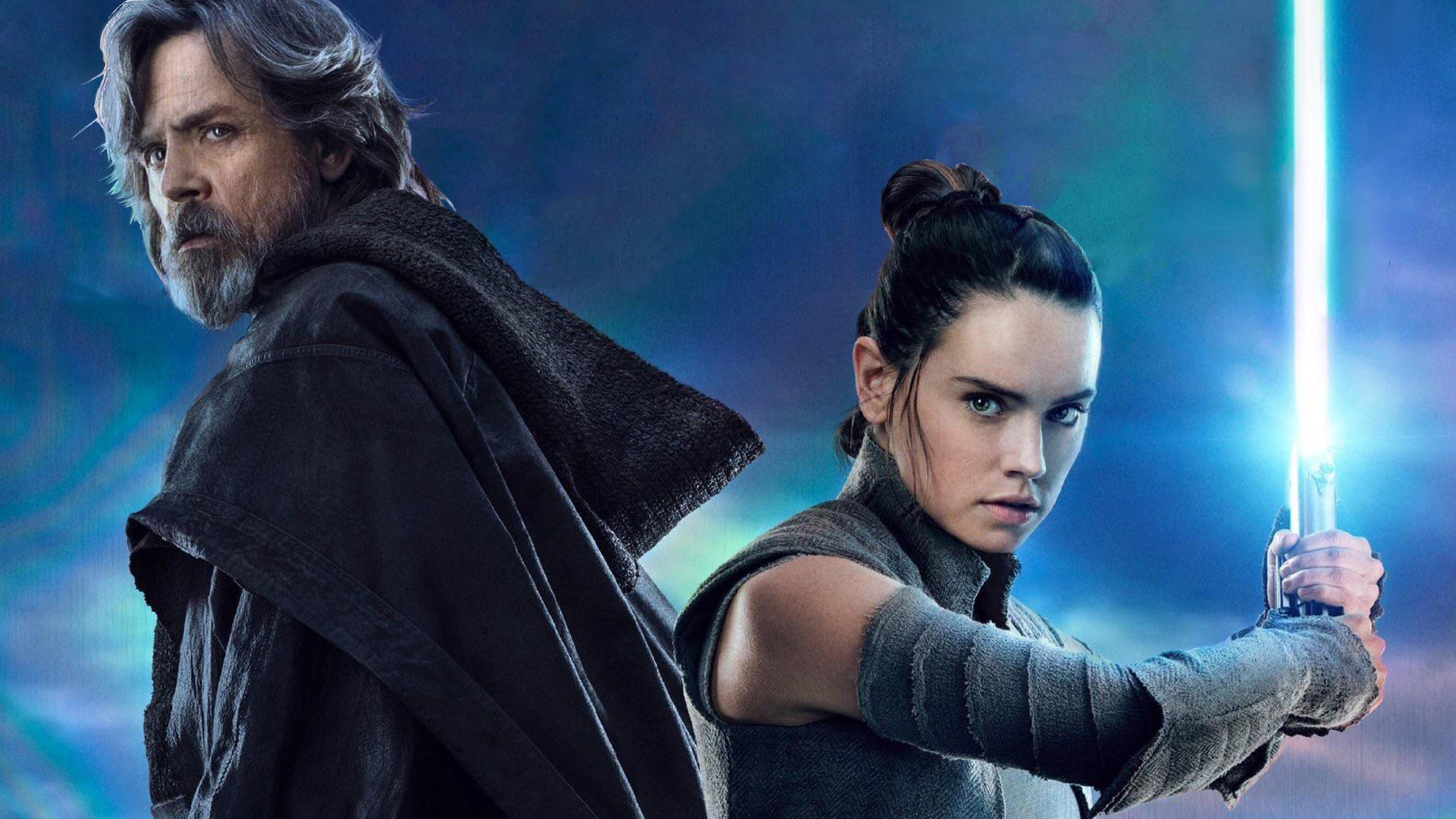 Rey And Luke Star Wars The Last Jedi, Full HD 2K Wallpaper