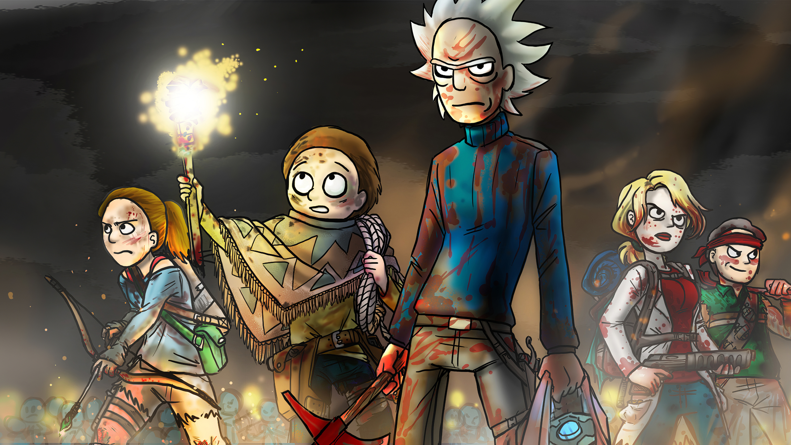 2560x1440 Rick and Morty 2019 Art 1440P Resolution ...