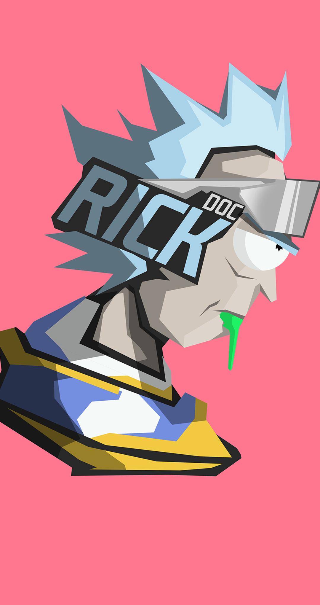 1080x2040 Rick And Morty Headshot Minimal 1080x2040 ...