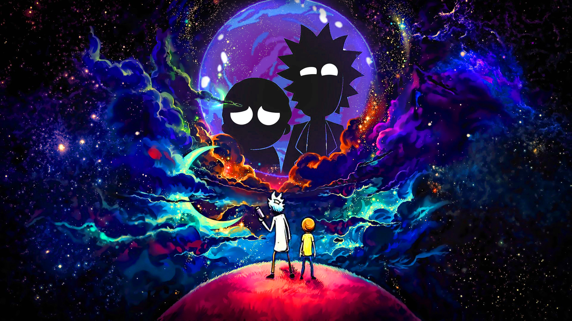 1920x1080 Rick and Morty in Outer Space 1080P Laptop Full ...