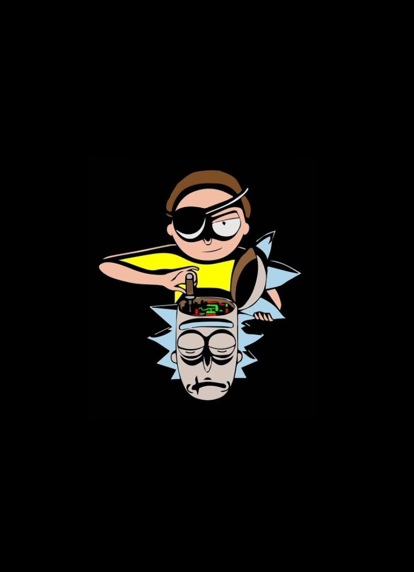 Download rick and morty minimal 1920x1080 resolution full hd wallpaper - Rick and morty download ...