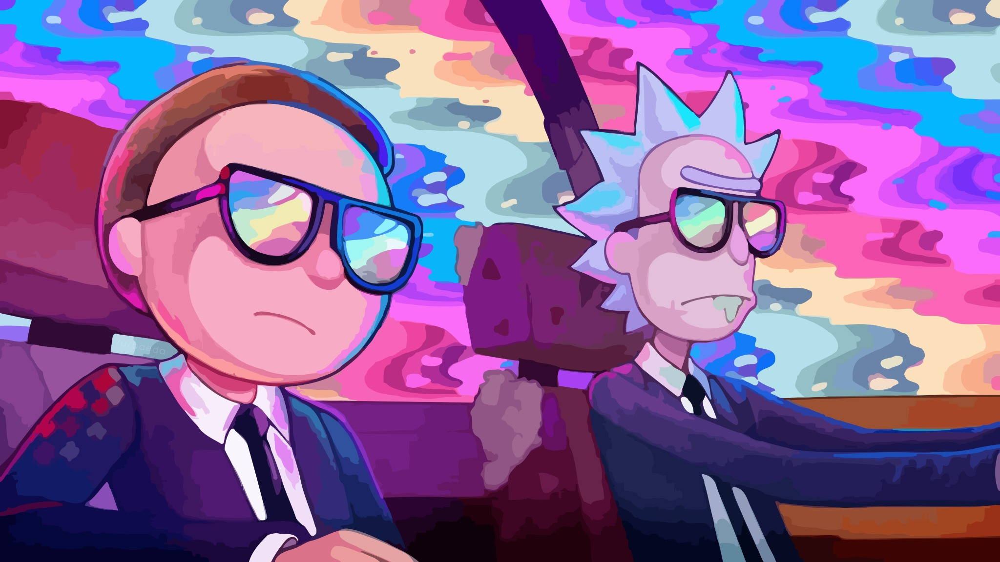Download Rick And Morty Oh Mama Run The Jewels 1440x2560