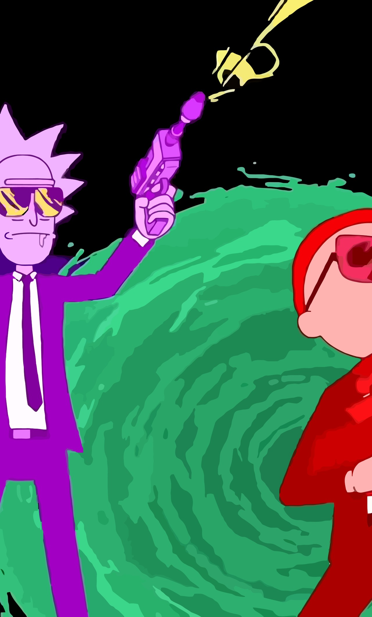 1280x2120 Rick And Morty Run The Jewels Art Iphone 6 Plus