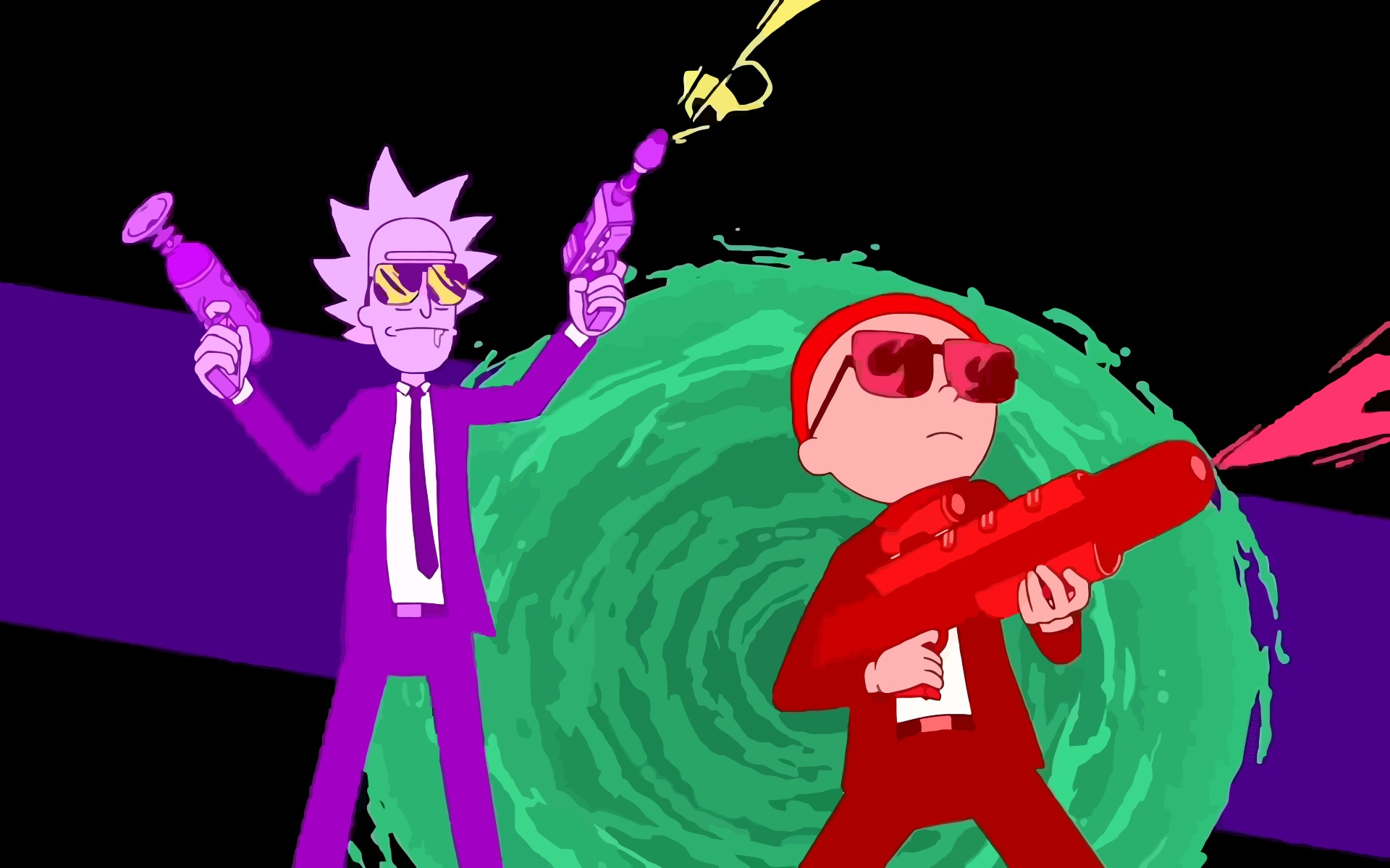 Rick And Morty Run The Jewels Art, HD 8K Wallpaper